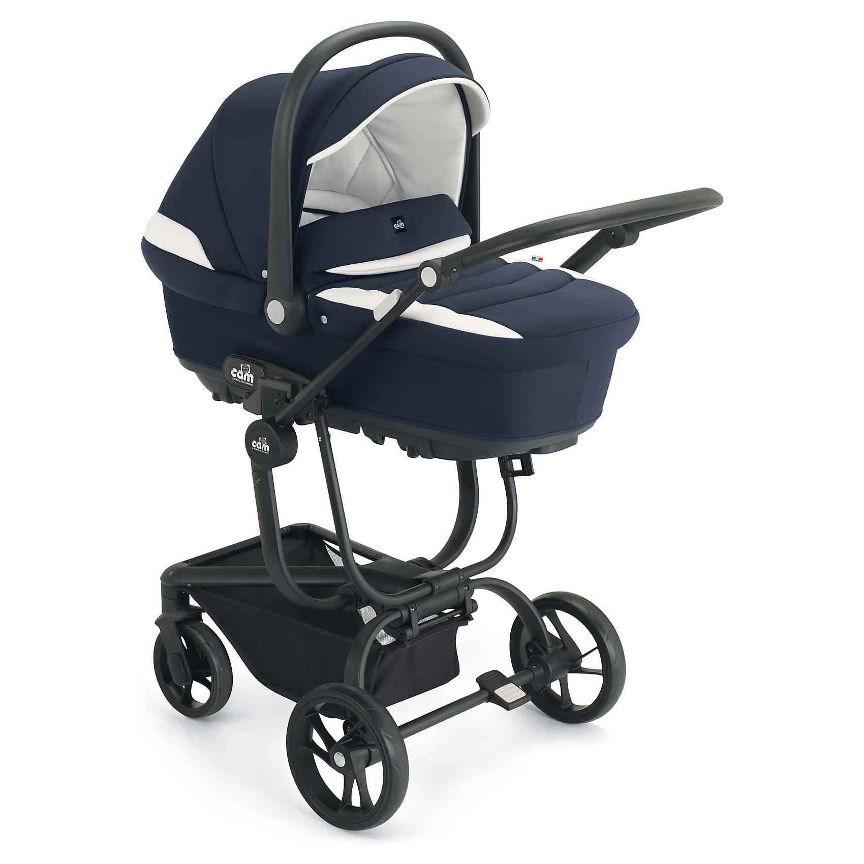Коляска 3 в 1 CAM Taski, синий/белыйКоляски 3 в 1<br>Характеристики коляски 3в1 CAM Taski<br><br>Люлька: <br><br>• регулируемый подголовник: 3 положения;<br>• вентилируемое дно люльки;<br>• возможность установить люльку на заднем сидении автомобиля;<br>• имеется пластиковая ручка для переноски люльки;<br>• материал люльки: пластик, монолит, обивка – хлопок;<br>• внутренние размеры люльки: 79х35х22 см;<br>• вес: 4,9 кг.<br><br>Прогулочный блок: <br><br>• реверсивное прогулочное сиденье;<br>• регулируемая спинка, угол наклона 180 градусов;<br>• регулируемая подножка;<br>• 5-ти точечные ремни безопасности; дополнительная секция на капюшоне;<br>• бампер отводится в сторону для удобства посадки ребенка;<br>• материал: пластик, алюминий.<br><br>Автокресло:<br><br>• для детей от рождения до 13 кг;<br>• способ установки: против хода движения;<br>• способ крепления: штатными ремнями безопасности, совместимо с базой;<br>• ручка для переноски автокресла;<br>• капор с солнцезащитным козырьком;<br>• 3-х точечные ремни безопасности;<br>• вкладыш для новорожденного;<br>• материал: пластик, полиэстер;<br>• размер автокресла: 44,5х64х58 см;<br>• вес: 3,7 кг.<br><br>Шасси коляски: <br><br>• ручка коляски регулируется по высоте;<br>• коляска складывается вместе с прогулочным блоком;<br>• имеется корзина для покупок;<br>• механизм складывания: книжка;<br>• материал: алюминий.<br><br>Размер коляски с люлькой: 95,5х57х122 см<br>Вес коляски с люлькой: 10,8 кг<br>Размер коляски с прогулочным блоком: 90х57х117 см<br>Вес коляски с прогулочным блоком: 10,6 кг<br><br>Дополнительная комплектация:<br><br>• накидка на люльку;<br>• чехол на ножки;<br>• матрасик в люльку;<br>• вкладыш в автокресло;<br>• дождевик;<br>• сумка для мамы.<br><br>Коляску 3 в 1 Taski, CAM, синий/белый можно купить в нашем интернет-магазине.<br><br>Ширина мм: 1009<br>Глубина мм: 495<br>Высота мм: 675<br>Вес г: 8000<br>Возраст от месяцев: 0<br>Возраст до месяцев: 36<br>Пол: Унисекс<br>Возраст: Детский<br>SKU: 5607564