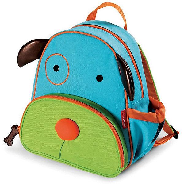 Рюкзак детский Собака, Skip HopДетские рюкзаки<br>Характеристики товара:<br><br>• возраст от 3 лет;<br>• материал: полиэстер;<br>• размер рюкзака 25х29х11 см;<br>• вес рюкзака 270 гр.;<br>• страна производитель: Китай.<br><br>Рюкзак детский «Собака» Skip Hop выполнен в виде забавной собачки с глазками, носиком и ушками. На молниях висят брелки в виде косточки. Ребенок сможет брать с собой все необходимое на прогулку, в детский садик, в гости, на дачу. В основном отделении поместятся тетради, альбомы, блокноты, карандаши, фломастеры. Спереди кармашек для дополнительных мелочей, а сбоку для бутылочки с напитком или бокса для еды. <br><br>Мягкие регулируемые лямки обеспечивают комфортное ношение. Предусмотрена небольшая ручка для переноски в руках или подвешивания. Рюкзак выполнен из прочной качественной ткани. Его можно стирать в стиральной машине.<br><br>Рюкзак детский «Собака» Skip Hop можно приобрести в нашем интернет-магазине.<br>Ширина мм: 290; Глубина мм: 50; Высота мм: 320; Вес г: 350; Возраст от месяцев: 24; Возраст до месяцев: 72; Пол: Унисекс; Возраст: Детский; SKU: 5608246;