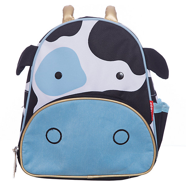 Рюкзак детский Корова, Skip HopДетские рюкзаки<br>Характеристики товара:<br><br>• возраст от 3 лет;<br>• материал: полиэстер;<br>• размер рюкзака 25х29х11 см;<br>• вес рюкзака 270 гр.;<br>• страна производитель: Китай.<br><br>Рюкзак детский «Корова» Skip Hop выполнен в виде пятнистой коровки с ушками, рожками и глазками. Ребенок сможет брать с собой все необходимое на прогулку, в детский садик, в гости, на дачу. В основном отделении поместятся тетради, альбомы, блокноты, карандаши, фломастеры. Спереди кармашек для дополнительных мелочей, а сбоку для бутылочки с напитком или бокса для еды. <br><br>Мягкие регулируемые лямки обеспечивают комфортное ношение. Предусмотрена небольшая ручка для переноски в руках или подвешивания. Рюкзак выполнен из прочной качественной ткани. Его можно стирать в стиральной машине.<br><br>Рюкзак детский «Корова» Skip Hop можно приобрести в нашем интернет-магазине.<br><br>Ширина мм: 290<br>Глубина мм: 50<br>Высота мм: 320<br>Вес г: 350<br>Возраст от месяцев: 24<br>Возраст до месяцев: 72<br>Пол: Унисекс<br>Возраст: Детский<br>SKU: 5608250