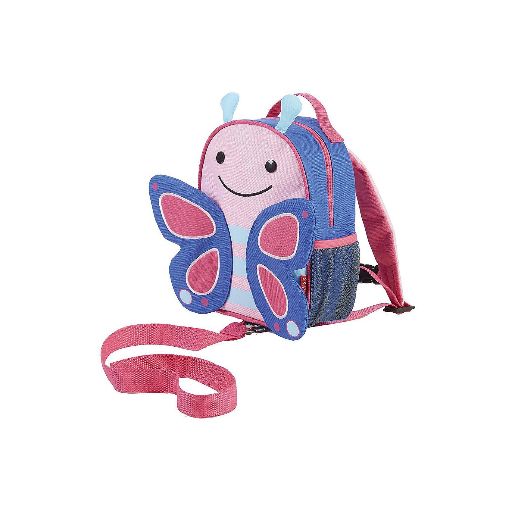 Рюкзак детский с поводком Бабочка, Skip HopДетские рюкзаки<br>Возраст: от 11 месяцев<br>Размер: 23 см x 19 см x 8.5 см<br>Легко одевается на ребенка<br>Ремешок безопасности регулируется до необходимой длины<br>Позволяет малышу свободно исследовать мир, находясь под контролем родителей<br>Можно стирать в машинке<br>Бирочка для имени<br><br>Ширина мм: 230<br>Глубина мм: 60<br>Высота мм: 370<br>Вес г: 333<br>Возраст от месяцев: 24<br>Возраст до месяцев: 72<br>Пол: Унисекс<br>Возраст: Детский<br>SKU: 5608255