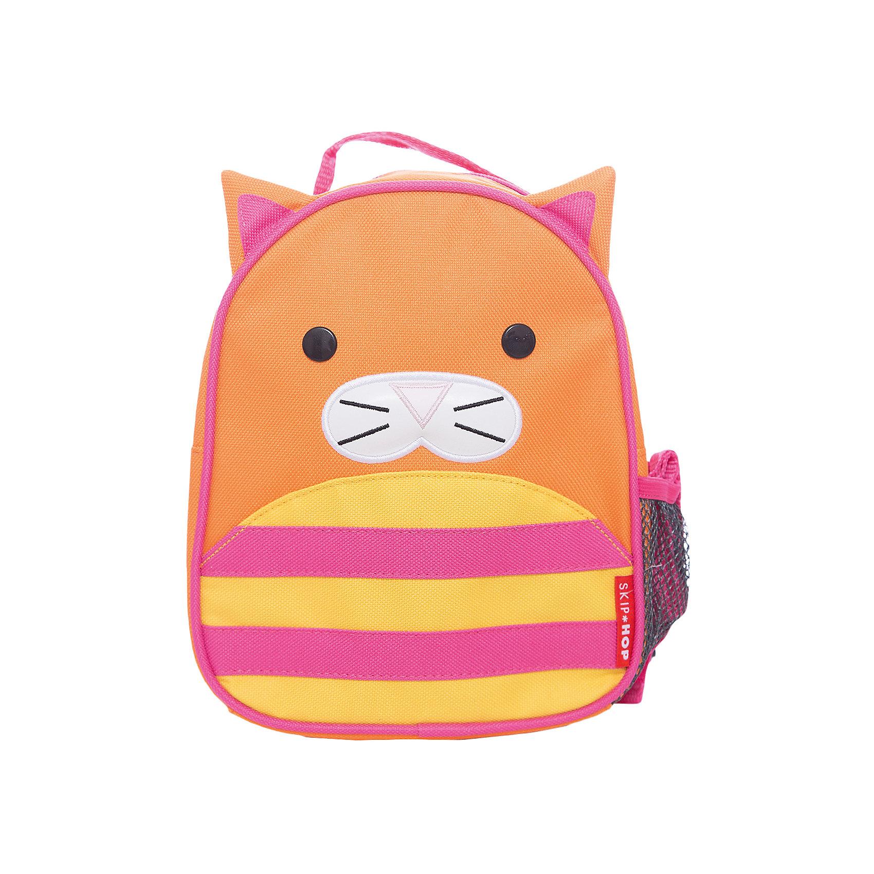 Рюкзак детский с поводком Кошка, Skip HopДетские рюкзаки<br>Возраст: от 11 месяцев<br>Размер: 23 см x 19 см x 8.5 см<br>Легко одевается на ребенка<br>Ремешок безопасности регулируется до необходимой длины<br>Позволяет малышу свободно исследовать мир, находясь под контролем родителей<br>Можно стирать в машинке<br>Бирочка для имени<br><br>Ширина мм: 230<br>Глубина мм: 60<br>Высота мм: 370<br>Вес г: 300<br>Возраст от месяцев: 24<br>Возраст до месяцев: 72<br>Пол: Унисекс<br>Возраст: Детский<br>SKU: 5608256