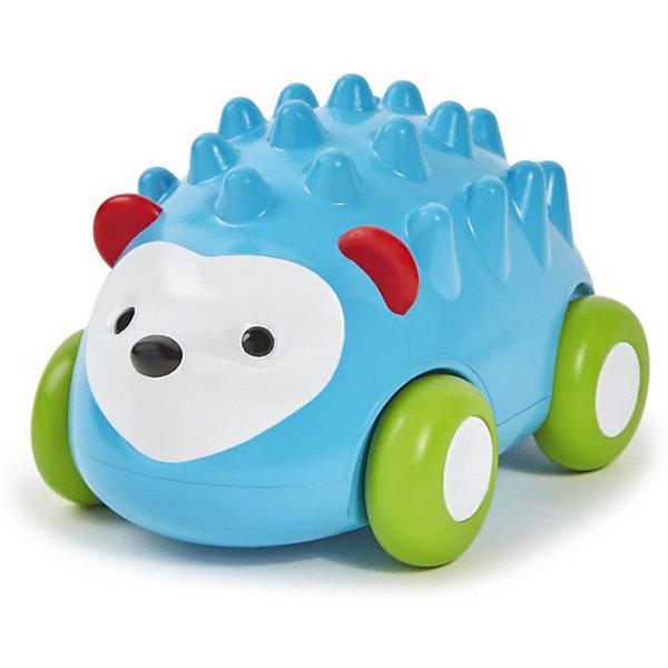 Развивающая игрушка Ежик-машинка, Skip HopКаталки и качалки<br>Характеристики товара:<br><br>• возраст от 12 месяцев;<br>• материал: пластик;<br>• размер игрушки 12х8х8 см;<br>• размер упаковки 14х12х10 см;<br>• вес упаковки 312 гр.;<br>• страна производитель: Китай.<br><br>Развивающая игрушка «Ежик-машинка» Skip Hop в виде голубого ежика с иголочками — увлекательная игрушка для малышей. Она представляет собой машинку, которая ездит по поверхности на колесиках. Машинка оснащена инерционным механизмом, чтобы запустить ее, надо немного оттянуть игрушку назад и отпустить. Резиновые колеса не повреждают напольное покрытие. Игрушка позволит малышу весело провести время. Она развивает у малышей моторику рук, тактильные ощущения, зрительное и цветовое восприятие. Изготовлена из качественного безвредного пластика.<br><br>Развивающую игрушку «Ежик-машинка» Skip Hop можно приобрести в нашем интернет-магазине.<br>Ширина мм: 140; Глубина мм: 100; Высота мм: 120; Вес г: 312; Возраст от месяцев: 24; Возраст до месяцев: 72; Пол: Унисекс; Возраст: Детский; SKU: 5608264;