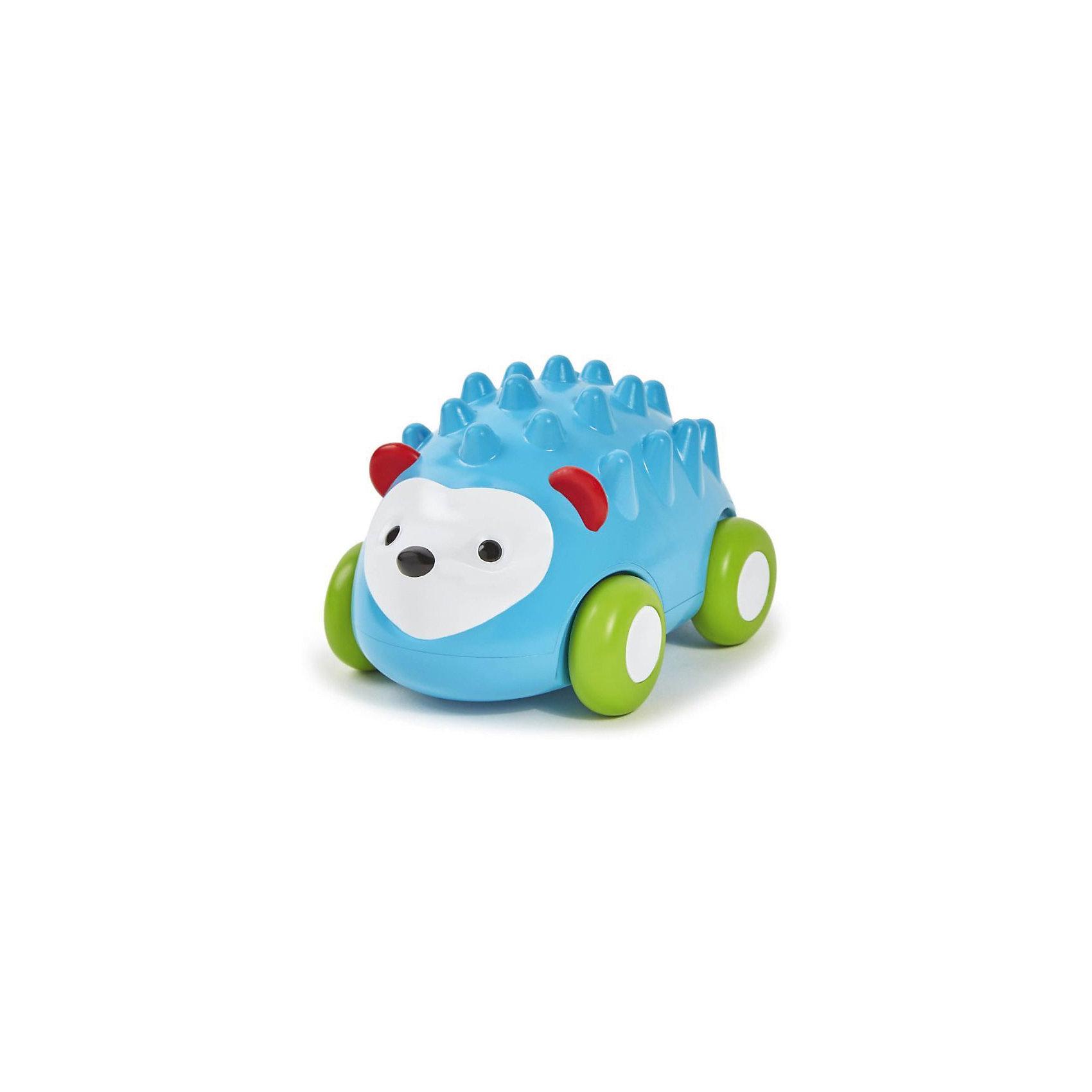 Развивающая игрушка Ежик-машинка, Skip HopРазвивающие игрушки<br>Характеристики товара:<br><br>• возраст от 12 месяцев;<br>• материал: пластик;<br>• размер игрушки 12х8х8 см;<br>• размер упаковки 14х12х10 см;<br>• вес упаковки 312 гр.;<br>• страна производитель: Китай.<br><br>Развивающая игрушка «Ежик-машинка» Skip Hop в виде голубого ежика с иголочками — увлекательная игрушка для малышей. Она представляет собой машинку, которая ездит по поверхности на колесиках. Машинка оснащена инерционным механизмом, чтобы запустить ее, надо немного оттянуть игрушку назад и отпустить. Резиновые колеса не повреждают напольное покрытие. Игрушка позволит малышу весело провести время. Она развивает у малышей моторику рук, тактильные ощущения, зрительное и цветовое восприятие. Изготовлена из качественного безвредного пластика.<br><br>Развивающую игрушку «Ежик-машинка» Skip Hop можно приобрести в нашем интернет-магазине.<br><br>Ширина мм: 140<br>Глубина мм: 100<br>Высота мм: 120<br>Вес г: 312<br>Возраст от месяцев: 24<br>Возраст до месяцев: 72<br>Пол: Унисекс<br>Возраст: Детский<br>SKU: 5608264