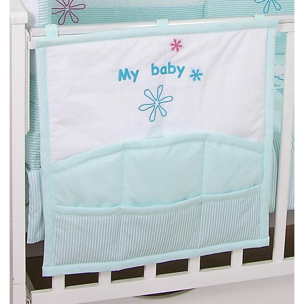 Карман на кроватку Белые кудряшки, FairyПостельное белье в кроватку новорождённого<br>Характеристики товара:<br><br>• возраст с рождения;<br>• материал: хлопок;<br>• размер 59х60 см;<br>• 6 карманов<br>• крепится с помощью 3 завязок<br>• размер упаковки 35х25х5 см;<br>• вес упаковки 300 гр.;<br>• страна производитель: Россия.<br><br>Карман для кроватки «Белые кудряшки» Fairy позволяет маме иметь все необходимые вещи по уходу ха ребенком — салфетки, подгузники, игрушки, соски — всегда под рукой. При помощи 3 завязок карман крепится на кроватку. Предусмотрено 6 карманов для различных предметов. Карман изготовлен из качественного натурального хлопка.<br><br>Карман для кроватки «Белые кудряшки» Fairy можно приобрести в нашем интернет-магазине.<br><br>Ширина мм: 590<br>Глубина мм: 600<br>Высота мм: 100<br>Вес г: 300<br>Возраст от месяцев: 0<br>Возраст до месяцев: 36<br>Пол: Унисекс<br>Возраст: Детский<br>SKU: 5610108