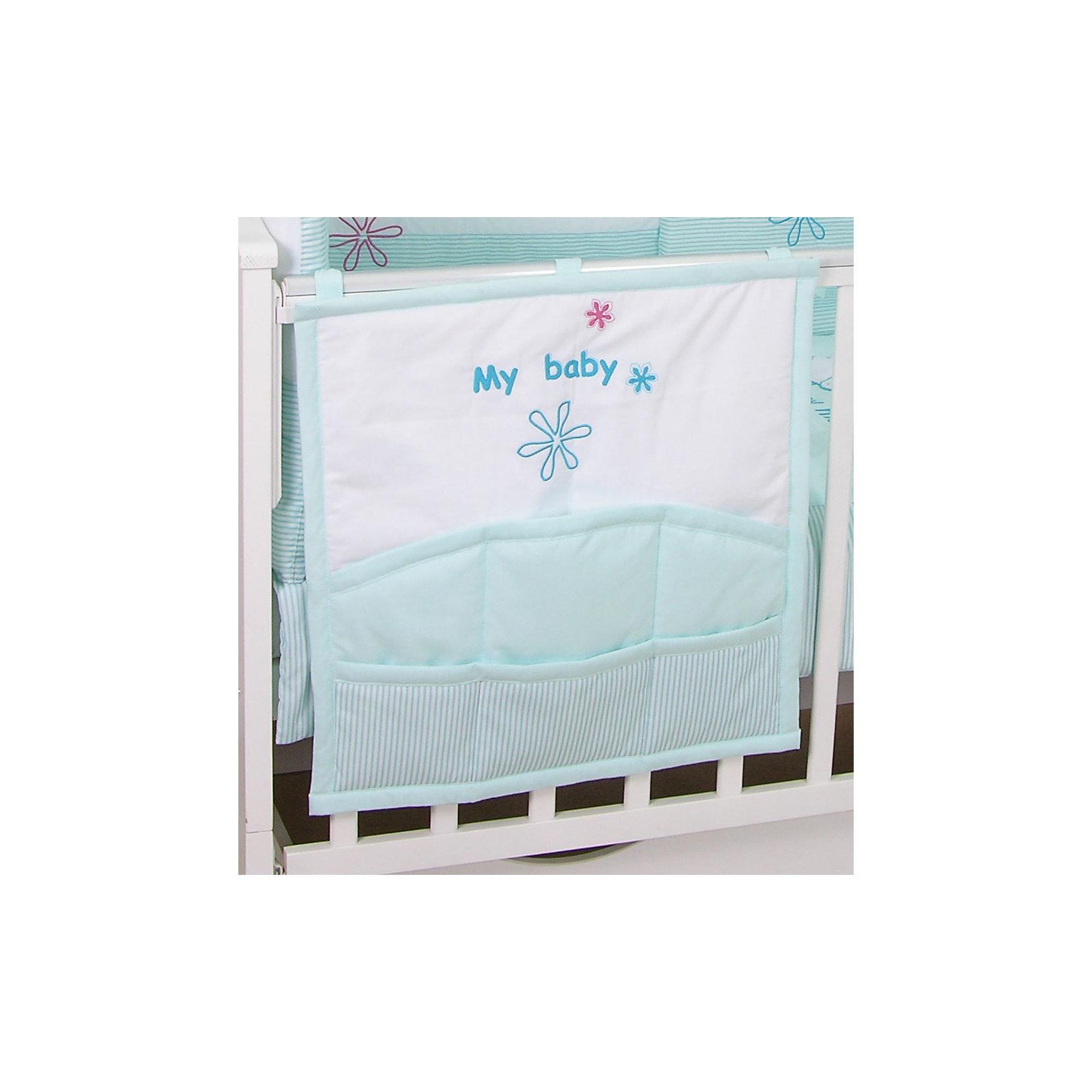 Карман на кроватку Белые кудряшки, FairyПостельное бельё<br>Характеристики товара:<br><br>• возраст с рождения;<br>• материал: хлопок;<br>• размер 59х60 см;<br>• 6 карманов<br>• крепится с помощью 3 завязок<br>• размер упаковки 35х25х5 см;<br>• вес упаковки 300 гр.;<br>• страна производитель: Россия.<br><br>Карман для кроватки «Белые кудряшки» Fairy позволяет маме иметь все необходимые вещи по уходу ха ребенком — салфетки, подгузники, игрушки, соски — всегда под рукой. При помощи 3 завязок карман крепится на кроватку. Предусмотрено 6 карманов для различных предметов. Карман изготовлен из качественного натурального хлопка.<br><br>Карман для кроватки «Белые кудряшки» Fairy можно приобрести в нашем интернет-магазине.<br><br>Ширина мм: 590<br>Глубина мм: 600<br>Высота мм: 100<br>Вес г: 300<br>Возраст от месяцев: 0<br>Возраст до месяцев: 36<br>Пол: Унисекс<br>Возраст: Детский<br>SKU: 5610108