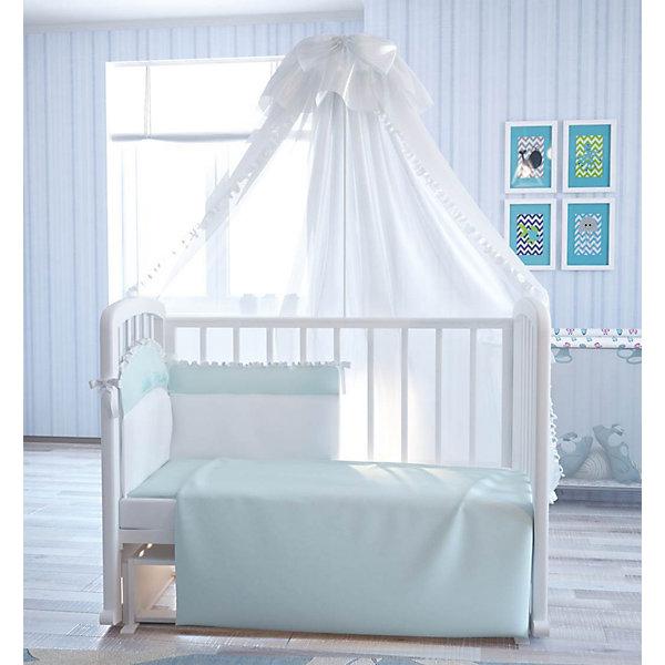 Постельное белье Сладкий сон 7 пред., FairyПостельное белье в кроватку новорождённого<br>Характеристики товара:<br><br>• возраст с рождения;<br>• материал: хлопок;<br>• штора балдахина 179х300 см<br>• борт 185х54 см<br>• подушка 40х60 см<br>• наволочка 40х60 см<br>• простыня на резинке 120х60 см<br>• пододеяльник 110х140 см<br>• одеяло 110х140 см;<br>• размер упаковки 65х50х10 см;<br>• вес упаковки 2,5 кг;<br>• страна производитель: Россия.<br><br>Постельное белье «Сладкий сон» Fairy обеспечит крохе уютный и спокойный сон. Белье изготовлено из натурального хлопка, который не вызывает у малышей аллергических реакций и раздражения. <br><br>Постельное белье «Сладкий сон» Fairy можно приобрести в нашем интернет-магазине.<br><br>Ширина мм: 650<br>Глубина мм: 500<br>Высота мм: 100<br>Вес г: 2700<br>Возраст от месяцев: 0<br>Возраст до месяцев: 36<br>Пол: Унисекс<br>Возраст: Детский<br>SKU: 5610123