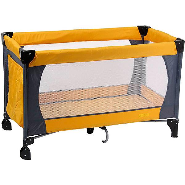 Манеж 211, Selby, оранжевыйДетские кроватки<br>Характеристики товара:<br><br>• возраст с рождения;<br>• материал: пластик;<br>• в комплекте: манеж, сумка;<br>• размер манежа 120х60х76 см;<br>• 2 колеса<br>• углы со специальными накладками<br>• имеется боковой карман для принадлежностей<br>• стенки из сетчатого материала<br>• манеж легко складывается<br>• вес манежа 9,5 кг;<br>• размер упаковки 110х76х77 см;<br>• вес упаковки 10 кг;<br>• страна производитель: Китай.<br><br>Манеж 211 Selby оранжевый — комфортный манеж для игр и отдыха малыша. Стенки манежа выполнены из сетчатого материала, который обеспечивает хороший воздухообмен. 2 колесика облегчают перемещение по квартире. Углы манежа закрыты пластиковыми накладками, чтобы избежать случайных травм. Для хранения игрушек, салфеток, полотенец предусмотрен боковой карман. <br><br>Конструкция отличается хорошей устойчивостью благодаря дополнительному упору по центру. Манеж можно использовать не только дома, но и брать с собой в поездку или на дачу, так как он легко складывается. Для его транспортировки имеется удобная сумка.<br><br>Манеж 211 Selby оранжевый можно приобрести в нашем интернет-магазине.<br>Ширина мм: 1100; Глубина мм: 760; Высота мм: 770; Вес г: 10000; Возраст от месяцев: 0; Возраст до месяцев: 36; Пол: Унисекс; Возраст: Детский; SKU: 5610145;