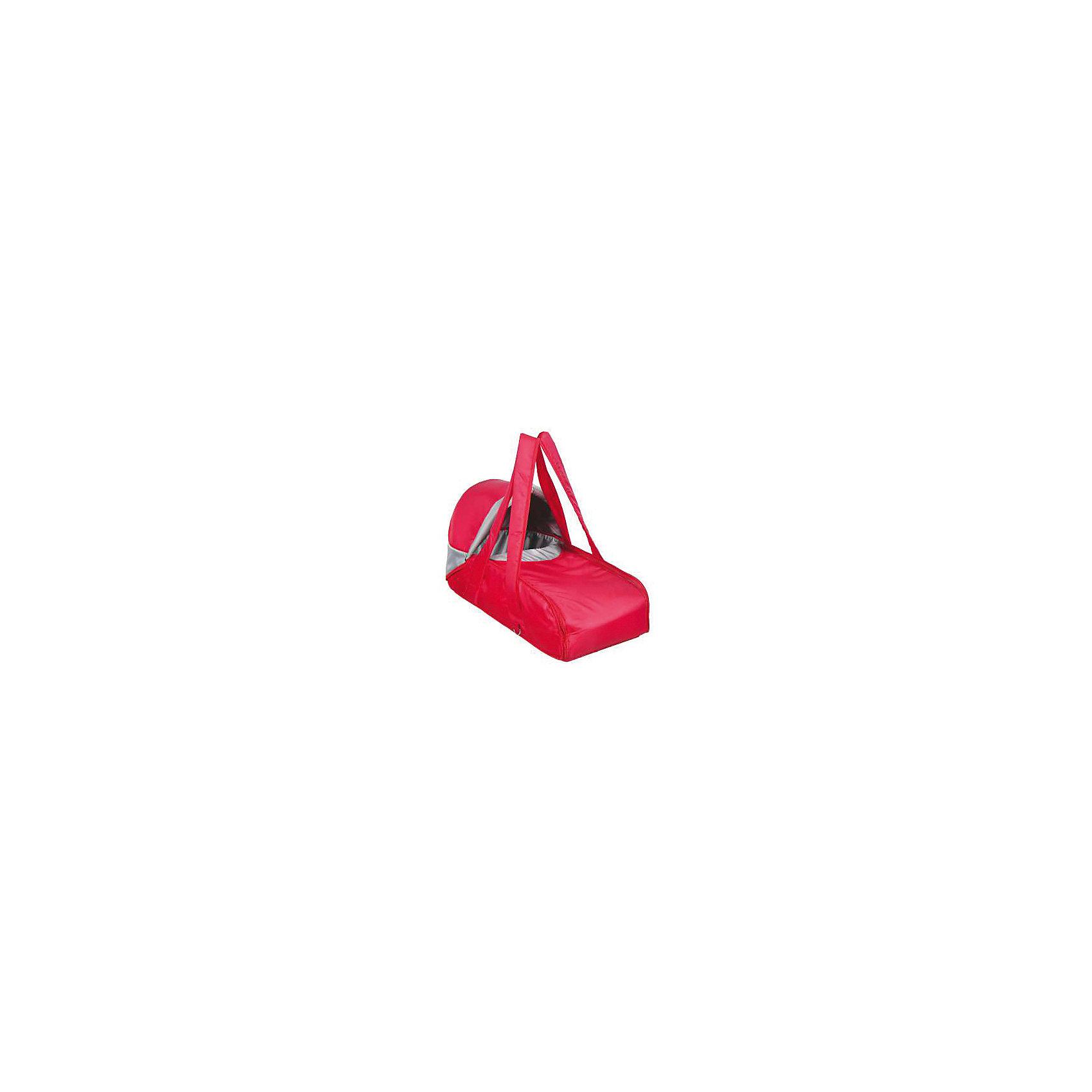 Переносная люлька-кокон, Фея, красныйСлинги и рюкзаки-переноски<br>Характеристики товара:<br><br>• возраст с рождения;<br>• материал: полиэстер;<br>• в комплекте: люлька, съемный капюшон, плечевой ремень;<br>• размер люльки 67х29х35 см;<br>• жёсткое основание<br>• защитный съёмный капюшон<br>• две боковые молнии<br>• мягкие ручки<br>• остёгивающийся плечевой ремень на карабинах<br>• вес 1 кг;<br>• страна производитель: Россия.<br><br>Переносная люлька-кокон Фея красная предназначена для переноски новорожденного и подойдет родителям, которые часто проводят время в поездках. <br><br>Люльку можно использовать самостоятельно, а также устанавливать на любую коляску для новорожденных. Плотный полог с высокими бортиками и съемный капюшон защищают кроху от осадков и холодного ветра. <br><br>На пологе расположены 2 молнии, которые облегчают процесс укладывания малыша в люльку. Твердое основание люльки обеспечивает правильного развитие хрупкого детского позвоночника. Для переноски предусмотрены ручки и плечевой ремень.<br><br>Переносную люльку-кокон Фея красную можно приобрести в нашем интернет-магазине.<br><br>Ширина мм: 670<br>Глубина мм: 290<br>Высота мм: 350<br>Вес г: 1000<br>Возраст от месяцев: 0<br>Возраст до месяцев: 12<br>Пол: Унисекс<br>Возраст: Детский<br>SKU: 5610158