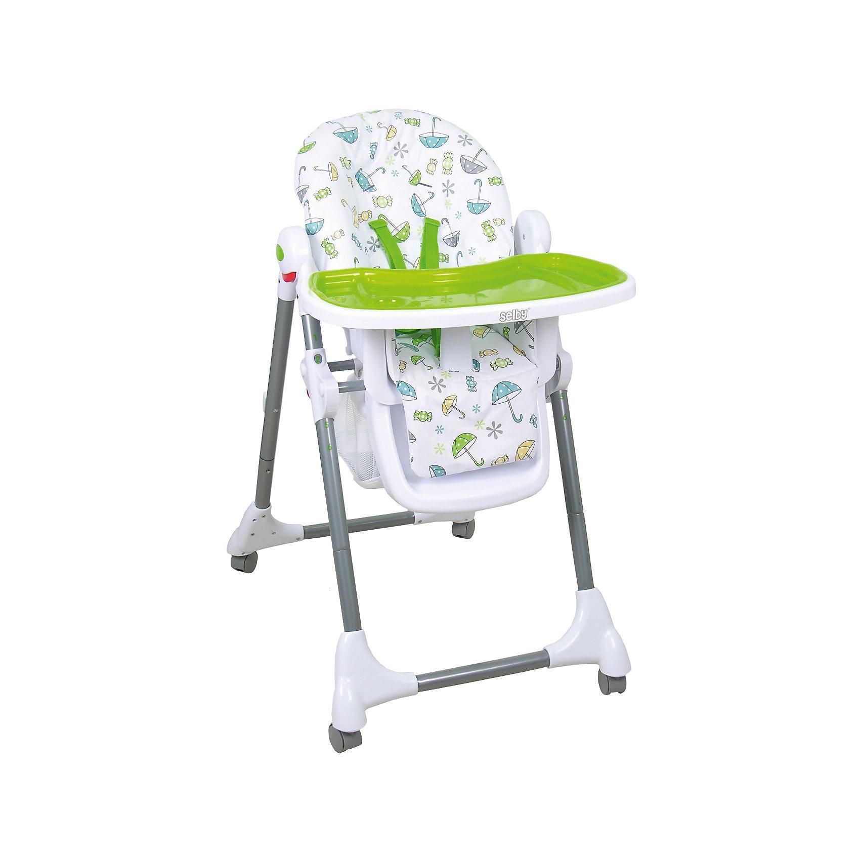 Стульчик для кормления BH-431, Selby, зеленыйот +6 месяцев<br>стульчик имеет столик и съемный поднос с углублениями для посуды, - регулировка столика: 3 положения, - пятиточечный ремень безопасности, - регулировка высоты сидения: 6 положений, сидение съемное, моюшееся, - фиксируемый угол наклона спинки: 3 положения, - подставка для ног, 4 колесика с фиксаторами, корзина для игрушек, - в сложенном виде стоит без опоры, для компактного хранения столик можно установить на задней опоре стульчика<br><br>Ширина мм: 570<br>Глубина мм: 820<br>Высота мм: 1000<br>Вес г: 7900<br>Возраст от месяцев: 6<br>Возраст до месяцев: 36<br>Пол: Унисекс<br>Возраст: Детский<br>SKU: 5610164