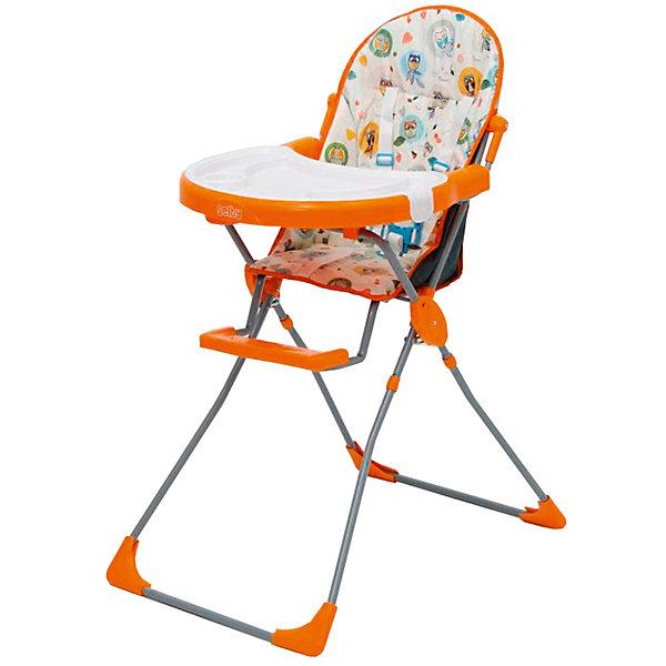 Стульчик для кормления 251 Совы, Selby, оранжевыйСтульчики для кормления<br>Характеристики товара:<br><br>• возраст от 6 месяцев;<br>• материал: пластик;<br>• максимальный вес ребёнка: 15 кг<br>• 5-ти точечные ремни безопасности;<br>• мягкое сидение<br>• подставка для ножек<br>• съёмный столик<br>• съёмный поднос с углублениями<br>• накладки на ножках не скользят и не царапают пол<br>• размер в разложенном виде 100,5х73,5х53 см;<br>• размер упаковки 53х75х30 см;<br>• вес  упаковки 5,9 кг;<br>• страна производитель: Китай.<br><br>Стульчик для кормления 251 «Совы» Selby — надежный помощник молодым родителям для кормления малыша. Стульчик оснащен удобным мягким сидением и подставкой для ножек. На столике имеется дополнительный съемный пластиковый поднос с углублениями и бортиками. <br><br>В кресле ребенка удерживают 5-ти точечные ремни безопасности. Накладки на ножках не дают стульчику скользить и не повреждают напольное покрытие. В сложенном виде стульчик не занимает много места. Для удобства хранения столик можно отвести на обратную сторону стульчика.<br><br>Стульчик для кормления 251 «Совы» Selby можно приобрести в нашем интернет-магазине.<br><br>Ширина мм: 530<br>Глубина мм: 750<br>Высота мм: 300<br>Вес г: 5900<br>Цвет: оранжевый<br>Возраст от месяцев: 6<br>Возраст до месяцев: 36<br>Пол: Унисекс<br>Возраст: Детский<br>SKU: 5610452