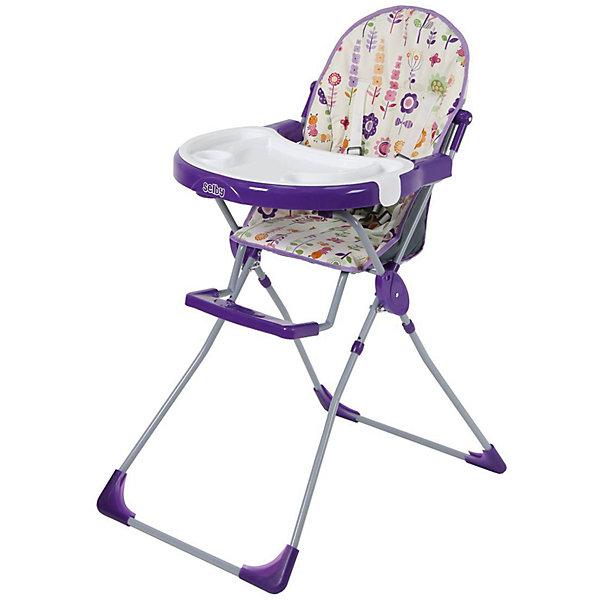 Стульчик для кормления 251 Яркий луг, Selby, фиолетовыйСтульчики для кормления<br>Характеристики товара:<br><br>• возраст от 6 месяцев;<br>• материал: пластик;<br>• максимальный вес ребёнка: 15 кг<br>• 5-ти точечные ремни безопасности;<br>• мягкое сидение<br>• подставка для ножек<br>• съёмный столик<br>• съёмный поднос с углублениями<br>• накладки на ножках не скользят и не царапают пол<br>• размер в разложенном виде 100,5х73,5х53 см;<br>• размер упаковки 53х75х30 см;<br>• вес  упаковки 5,9 кг;<br>• страна производитель: Китай.<br><br>Стульчик для кормления 251 «Яркий луг» Selby — надежный помощник молодым родителям для кормления малыша. Стульчик оснащен удобным мягким сидением и подставкой для ножек. На столике имеется дополнительный съемный пластиковый поднос с углублениями и бортиками. <br><br>В кресле ребенка удерживают 5-ти точечные ремни безопасности. Накладки на ножках не дают стульчику скользить и не повреждают напольное покрытие. В сложенном виде стульчик не занимает много места. Для удобства хранения столик можно отвести на обратную сторону стульчика.<br><br>Стульчик для кормления 251 «Яркий луг» Selby можно приобрести в нашем интернет-магазине.<br>Ширина мм: 530; Глубина мм: 750; Высота мм: 300; Вес г: 5900; Цвет: лиловый; Возраст от месяцев: 6; Возраст до месяцев: 36; Пол: Унисекс; Возраст: Детский; SKU: 5610458;