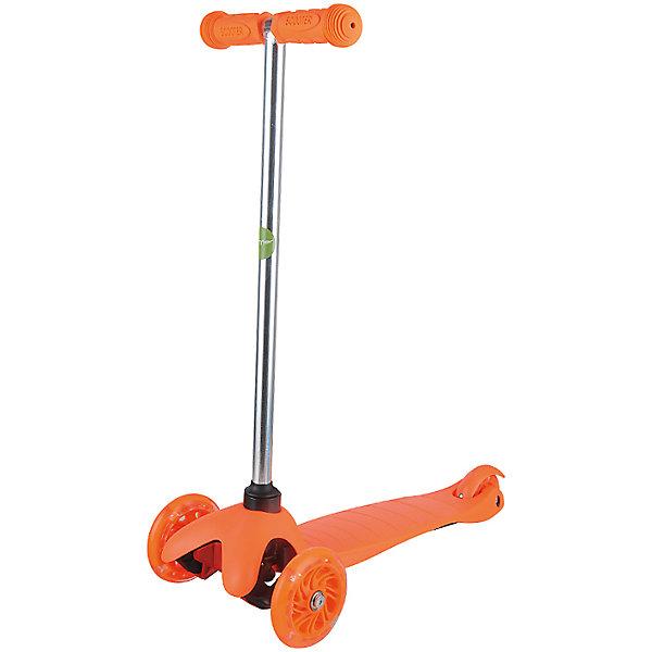 Самокат ZL-66, оранжевый, ZilmerСамокаты<br>Характеристики товара:<br><br>• возраст от 3 лет;<br>• материал: алюминий, пластик, сталь;<br>• в комплекте: самокат, шестигранные ключи, инструкция;<br>• максимальная нагрузка до 50 кг;<br>• материал колес: полиуретан;<br>• диаметр передних колес 11 см, заднего колеса 7,8 см;<br>• размер самоката 54х25х66 см;<br>• размер упаковки 56х14х19 см;<br>• вес упаковки 2,6 кг;<br>• страна производитель: Китай.<br><br>Самокат ZL-66 Zilmer оранжевый позволит активно провести время на прогулке. Катание на самокате развивает координацию движений, учит держать равновесие. 2 передних колеса придают хорошей устойчивости, позволяют легко учиться держать равновесие. Платформа самоката выполнена из прочного пластика и имеет рифленую поверхность, препятствующую соскальзывание во время езды. <br><br>Удобный руль обеспечивает комфортное управление. Прорезиненные накладки на ручках не дают ладошкам соскальзывать при движении. Колеса выполнены из износостойкого долговечного полиуретана. Главное преимущество модели — светящиеся колеса во время катания.<br><br>Самокат ZL-66 Zilmer оранжевый можно приобрести в нашем интернет-магазине.<br>Ширина мм: 560; Глубина мм: 140; Высота мм: 190; Вес г: 2600; Цвет: оранжевый; Возраст от месяцев: 36; Возраст до месяцев: 72; Пол: Унисекс; Возраст: Детский; SKU: 5610980;