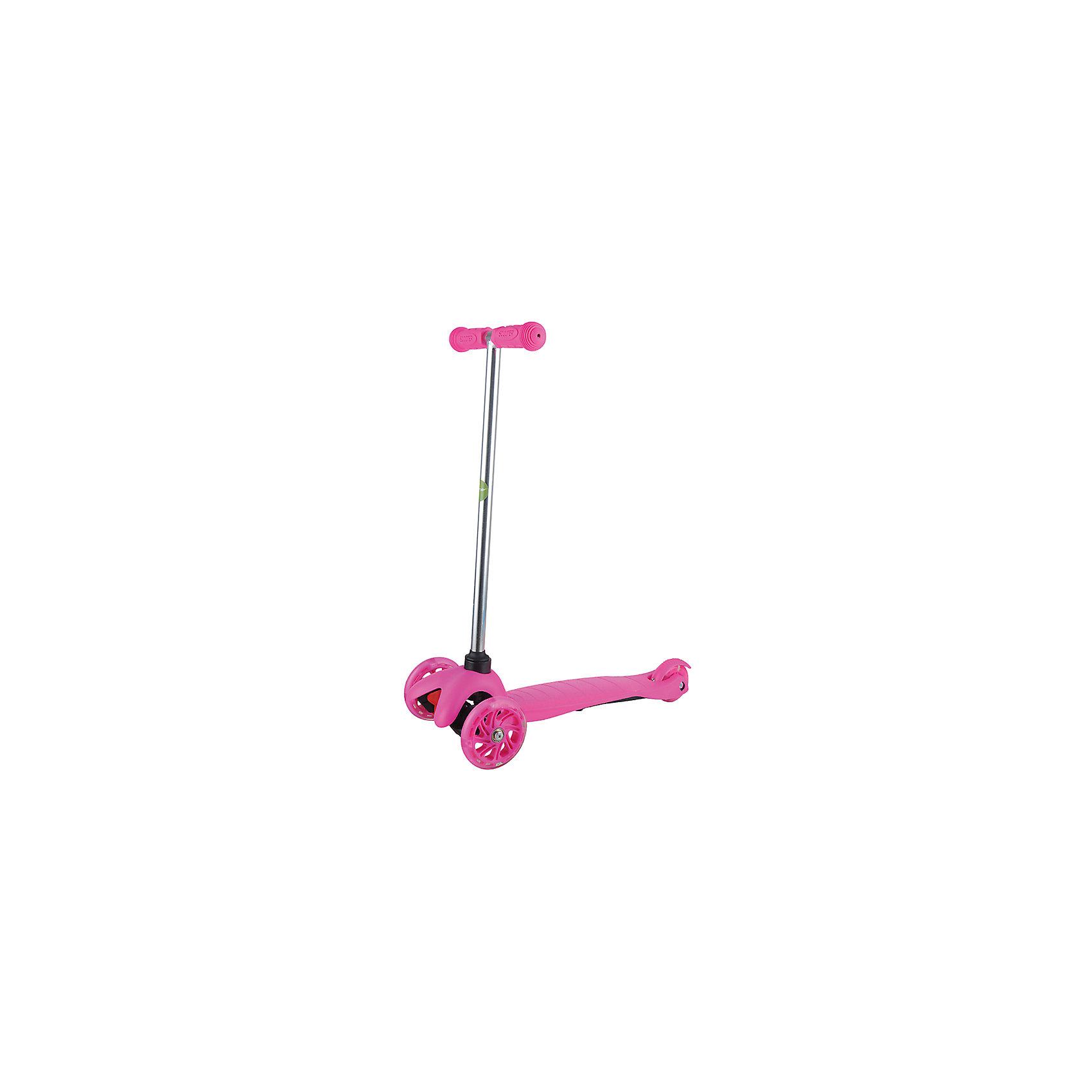 Самокат ZL-66, розовый, ZilmerСамокаты<br>Характеристики товара:<br><br>• возраст от 3 лет;<br>• материал: алюминий, пластик, сталь;<br>• в комплекте: самокат, шестигранные ключи, инструкция;<br>• максимальная нагрузка до 50 кг;<br>• материал колес: полиуретан;<br>• диаметр передних колес 11 см, заднего колеса 7,8 см;<br>• размер самоката 54х25х66 см;<br>• размер упаковки 56х14х19 см;<br>• вес упаковки 2,6 кг;<br>• страна производитель: Китай.<br><br>Самокат ZL-66 Zilmer розовый позволит активно провести время на прогулке. Катание на самокате развивает координацию движений, учит держать равновесие. 2 передних колеса придают хорошей устойчивости, позволяют легко учиться держать равновесие. Платформа самоката выполнена из прочного пластика и имеет рифленую поверхность, препятствующую соскальзывание во время езды. <br><br>Удобный руль обеспечивает комфортное управление. Прорезиненные накладки на ручках не дают ладошкам соскальзывать при движении. Колеса выполнены из износостойкого долговечного полиуретана. Главное преимущество модели — светящиеся колеса во время катания.<br><br>Самокат ZL-66 Zilmer розовый можно приобрести в нашем интернет-магазине.<br><br>Ширина мм: 560<br>Глубина мм: 140<br>Высота мм: 190<br>Вес г: 2600<br>Цвет: розовый<br>Возраст от месяцев: 36<br>Возраст до месяцев: 72<br>Пол: Унисекс<br>Возраст: Детский<br>SKU: 5610981