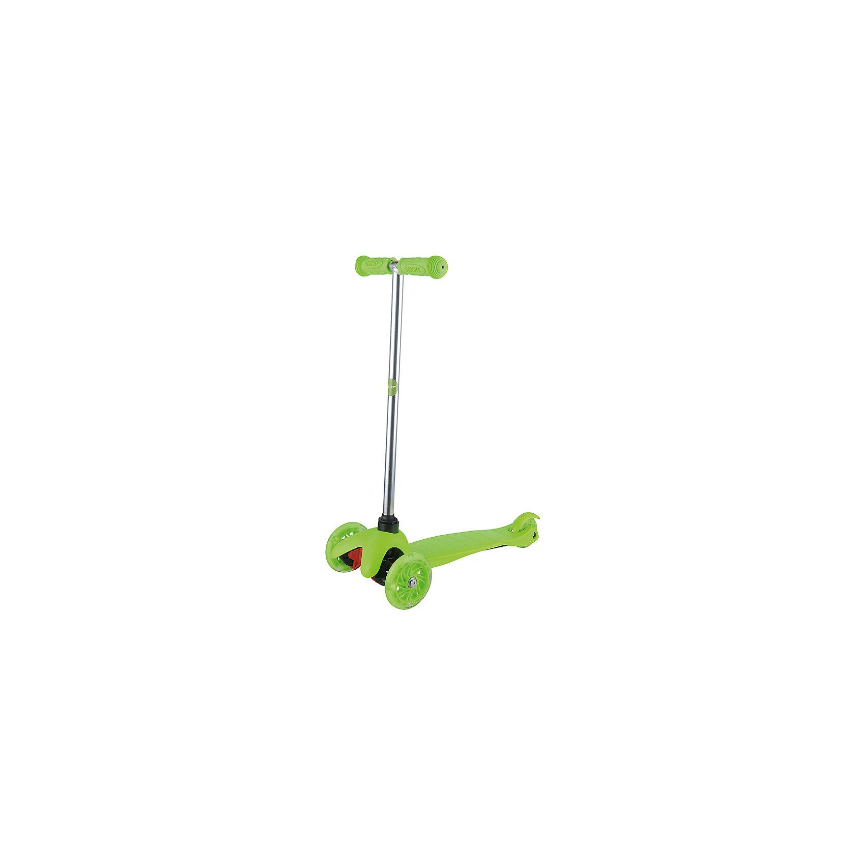 Самокат ZL-66, салатовый, ZilmerСамокаты<br>Характеристики товара:<br><br>• возраст от 3 лет;<br>• материал: алюминий, пластик, сталь;<br>• в комплекте: самокат, шестигранные ключи, инструкция;<br>• максимальная нагрузка до 50 кг;<br>• материал колес: полиуретан;<br>• диаметр передних колес 11 см, заднего колеса 7,8 см;<br>• размер самоката 54х25х66 см;<br>• размер упаковки 56х14х19 см;<br>• вес упаковки 2,6 кг;<br>• страна производитель: Китай.<br><br>Самокат ZL-66 Zilmer салатовый позволит активно провести время на прогулке. Катание на самокате развивает координацию движений, учит держать равновесие. 2 передних колеса придают хорошей устойчивости, позволяют легко учиться держать равновесие. Платформа самоката выполнена из прочного пластика и имеет рифленую поверхность, препятствующую соскальзывание во время езды. <br><br>Удобный руль обеспечивает комфортное управление. Прорезиненные накладки на ручках не дают ладошкам соскальзывать при движении. Колеса выполнены из износостойкого долговечного полиуретана. Главное преимущество модели — светящиеся колеса во время катания.<br><br>Самокат ZL-66 Zilmer салатовый можно приобрести в нашем интернет-магазине.<br><br>Ширина мм: 560<br>Глубина мм: 140<br>Высота мм: 190<br>Вес г: 2600<br>Цвет: светло-зеленый<br>Возраст от месяцев: 36<br>Возраст до месяцев: 72<br>Пол: Унисекс<br>Возраст: Детский<br>SKU: 5610982