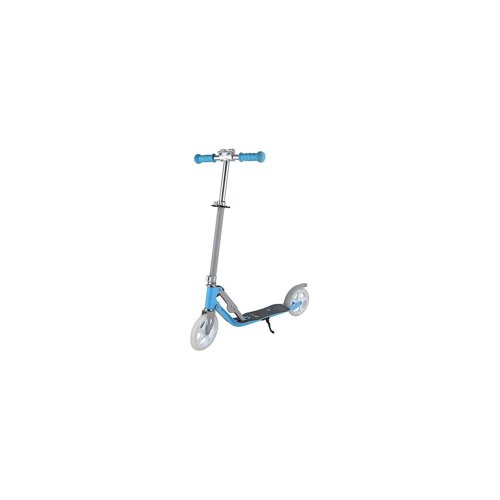 Самокат  ZL-98, голубо-белый, ZilmerСамокаты<br>Характеристики товара:<br><br>• возраст от 8 лет;<br>• материал: алюминий;<br>• в комплекте: самокат, шестигранный ключ, инструкция;<br>• максимальная нагрузка до 100 кг;<br>• регулировка руля;<br>• наличие подножки<br>• ножной задний тормоз<br>• материал колес: полиуретан;<br>• диаметр колес 18 см;<br>• размер самоката 97,5х82х32,5 см;<br>• вес самоката 3 кг;<br>• размер упаковки 90,5х27х13 см;<br>• вес упаковки 4,1 кг;<br>• страна производитель: Китай.<br><br>Самокат Zilmer ZL-98 голубой — городской самокат, для активных прогулок на свежем воздухе. Катание на самокате учит координировать движения и сохранять равновесие. Платформа покрыта противоскользящим материалом для сохранения устойчивости и безопасного катания. Полиуретановые колеса делают езду ровной и безопасной. <br><br>Регулируемый руль позволяет кататься не только детям, но и взрослым. Ручки руля имеют нескользящие накладки, препятствующие соскальзывание ладоней во время движения. Рулевая колонка складывается для удобного хранения дома или транспортировки. Подножка удерживает самокат в вертикальном положении во время стоянки. Ножной тормоз гарантирует безопасное катание и быстрое торможение перед препятствием.<br><br>Самокат Zilmer ZL-98 голубой можно приобрести в нашем интернет-магазине.<br><br>Ширина мм: 905<br>Глубина мм: 130<br>Высота мм: 270<br>Вес г: 4100<br>Цвет: белый/голубой<br>Возраст от месяцев: 60<br>Возраст до месяцев: 2147483647<br>Пол: Унисекс<br>Возраст: Детский<br>SKU: 5610994