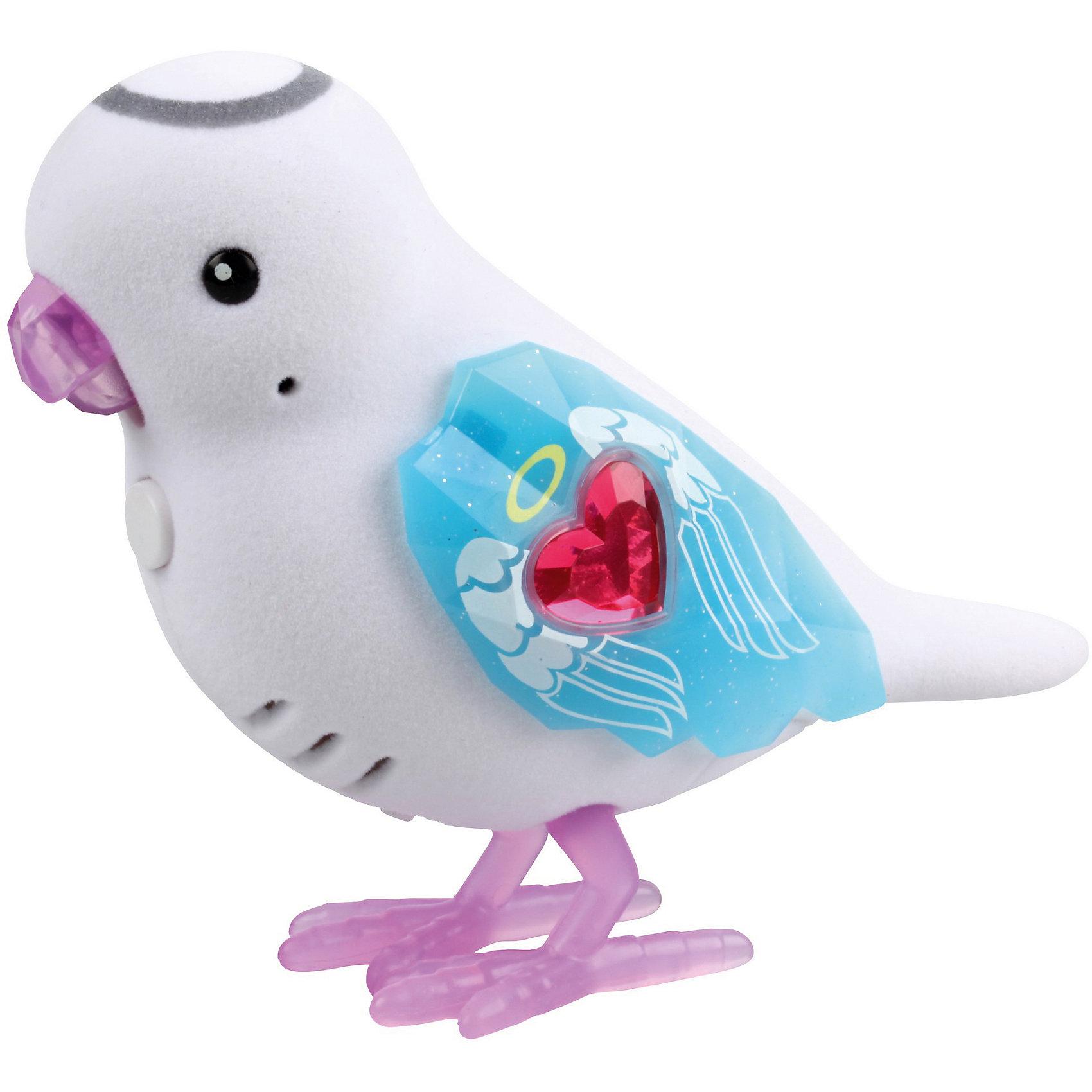 Интерактивная птичка Angel Alice, Little Live Pets, MooseИнтерактивные животные<br>Характеристики товара:<br><br>• возраст от 5 лет;<br>• материал: пластик;<br>• работает от 2 батареек ААА (в комплект не входят);<br>• размер упаковки 22х14х5,5 см;<br>• вес упаковки 140 гр.;<br>• страна производитель: Китай.<br><br>Интерактивная птичка «Angel Alice» Little Live Pets Moоse — необычная птичка, которая умеет петь, двигать клювом и реагирует на поглаживания. У птички фиолетовые лапки и клюв, оригинальные голубые крылышки с камушком и узорами. Если нажать на кнопку на груди птички, она запоет. <br><br>Интерактивную птичку «Angel Alice» Little Live Pets Moоse можно приобрести в нашем интернет-магазине.<br><br>Ширина мм: 55<br>Глубина мм: 140<br>Высота мм: 220<br>Вес г: 140<br>Возраст от месяцев: 60<br>Возраст до месяцев: 2147483647<br>Пол: Унисекс<br>Возраст: Детский<br>SKU: 5611998