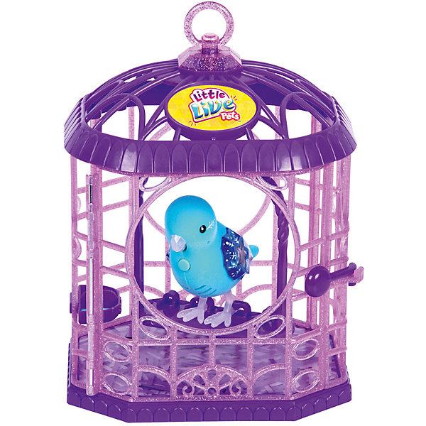 Интерактивная птичка в клетке, голубая, Little Live Pets, MooseИнтерактивные животные<br>Характеристики товара:<br><br>• возраст от 5 лет;<br>• материал: пластик;<br>• в комплекте: птичка, клетка;<br>• работает от 2 батареек ААА (тестовые в комплекте);<br>• размер упаковки 29х15х18,9 см;<br>• вес упаковки 580 гр.;<br>• страна производитель: Китай.<br><br>Интерактивная птичка в клетке Little Live Pets Mosse голубая — оригинальный маленький питомец, который умеет петь песенки, двигать клювом и реагирует на поглаживания. У птички яркие крылышки, украшенные камушком и узорами. На груди птички кнопка, нажав на которую, птичка начинает петь. Дома птичку можно держать в клетке с открывающейся дверцей, внутри которой есть шест для птички и кормушка. На клетке имеется кольцо, за которое клетку можно подвесить. <br><br>Интерактивную птичку в клетке Little Live Pets Mosse голубую можно приобрести в нашем интернет-магазине.<br><br>Ширина мм: 150<br>Глубина мм: 189<br>Высота мм: 290<br>Вес г: 580<br>Возраст от месяцев: 60<br>Возраст до месяцев: 2147483647<br>Пол: Унисекс<br>Возраст: Детский<br>SKU: 5612002
