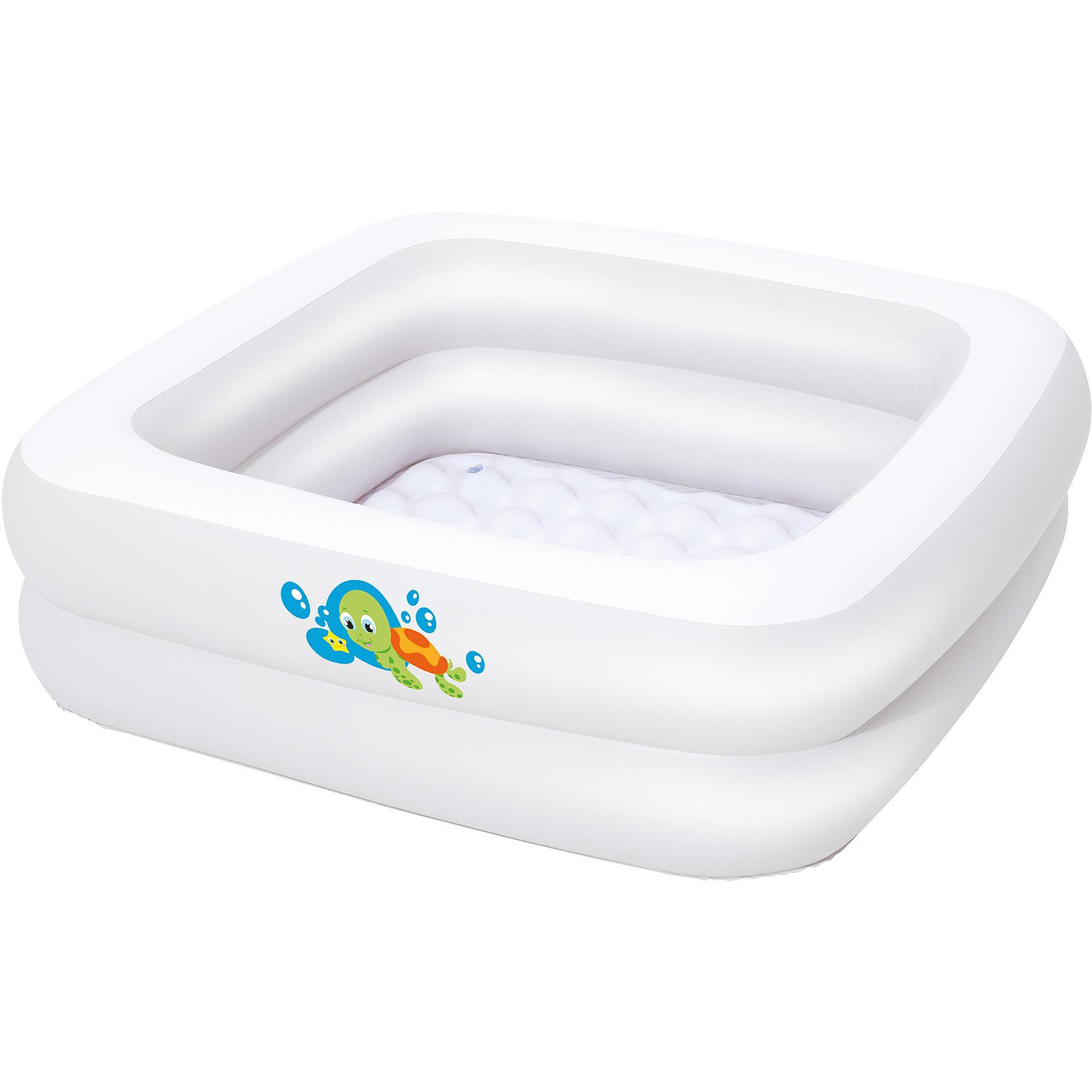 Надувной бассейн квадратный, Bestway, белый