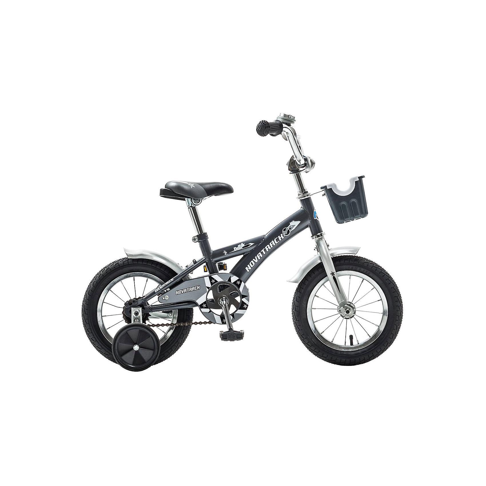 Велосипед Delfi, серо-серебяный, 12 дюймов, NovatrackВелосипеды детские<br>Велосипед Novatrack Delfi c 12-дюймовыми колесами – это надежный велосипед для ребят от 2 до 4 лет. Привлекательный дизайн, надежная сборка, легкость и отличная управляемость – это еще не все плюсы данной модели. Велосипед Delfi снабжен ограничителем поворота руля, который не позволит ребенку слишком сильно вывернуть переднее колесо велосипеда, и тем самым предотвратит падения. Цепь закрыта декоративной накладкой, которая защитит одежду и ноги ребенка от попадания в механизм. Данная модель специально разработана для легкого обучения езде на велосипеде. Низкая рама позволит ребенку быстро взбираться и слезать с велосипеда. Колеса закрыты крыльями, которые защитят ребенка от брызг, а на руле располагается вместительная корзинка для перевозки самых необходимых в дороге предметов.<br><br>Ширина мм: 810<br>Глубина мм: 185<br>Высота мм: 410<br>Вес г: 9500<br>Возраст от месяцев: 36<br>Возраст до месяцев: 60<br>Пол: Унисекс<br>Возраст: Детский<br>SKU: 5613200