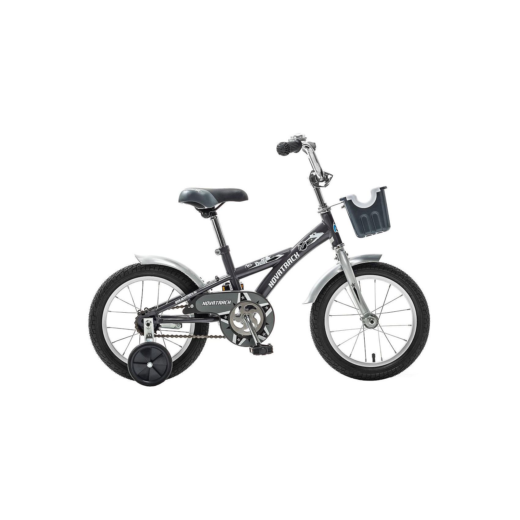 Велосипед Delfi, серо-серебряный, 14 дюймов, NovatrackВелосипеды детские<br>Велосипед Novatrack Delfi c 14-дюймовыми колесами – это надежный велосипед для ребят от 3 до 5 лет. Привлекательный дизайн, надежная сборка, легкость и отличная управляемость – это еще не все плюсы данной модели. Велосипед Delfi снабжен ограничителем поворота руля, который не позволит ребенку слишком сильно вывернуть переднее колесо велосипеда, и тем самым предотвратит падения. Цепь закрыта декоративной накладкой, которая защитит одежду и ноги ребенка от попадания в механизм. Данная модель специально разработана для легкого обучения езде на велосипеде. Низкая рама позволит ребенку быстро взбираться и слезать с велосипеда. Колеса закрыты крыльями, которые защитят ребенка от брызг, а на руле располагается вместительная корзинка для перевозки самых необходимых в дороге предметов.<br><br>Велосипед Delfi, серо-серебряный, 14 дюймов, Novatrack можно купить в нашем интернет-магазине.<br><br>Ширина мм: 810<br>Глубина мм: 185<br>Высота мм: 410<br>Вес г: 11000<br>Возраст от месяцев: 48<br>Возраст до месяцев: 72<br>Пол: Унисекс<br>Возраст: Детский<br>SKU: 5613204