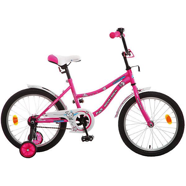 Велосипед NEPTUNE, розовый, 18 дюймов, NovatrackВелосипеды детские<br>Характеристики товара:<br><br>• цвет: розовый<br>• возраст: от 6 лет<br>• стальная рама<br>• мягкое регулируемое по высоте седло<br>• руль регулируется по высоте<br>• диаметр колес: 18 дюймов<br>• ножной задний тормоз<br>• два маленьких съемных колеса<br>• защита цепи не позволит одежде попасть в механизм<br>• крылья защитят от грязи и брызг<br>• велосипедный звонок<br>• мягкие накладки на руле<br>• катафоты<br><br>Novatrack Neptun 18'' – это отличный подарок для девочки. Привлекательный дизайн, легкость, отличная управляемость и универсальность - в этой модели есть все! <br><br>Novatrack Neptun 18'' полностью подготовлен для того, чтобы маленьким велосипедистам было комфортно и интересно учиться самостоятельно кататься. <br><br>Велосипед NEPTUNE, розовый, 18 дюймов, Novatrack можно купить в нашем интернет-магазине.<br>Ширина мм: 980; Глубина мм: 180; Высота мм: 480; Вес г: 13000; Возраст от месяцев: 72; Возраст до месяцев: 108; Пол: Унисекс; Возраст: Детский; SKU: 5613207;