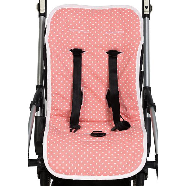 Матрасик в коляску и автокресло, Mammie, горох розовыйАксессуары для колясок<br>Матрасик в коляску и автокресло, Mammie, горох розовый.<br><br>Характеристики:<br><br>• Для детей с рождения<br>• Размер: 80х35 см.<br>• Цвет: розовый в белый горох<br>• Материал верха: 100% хлопок<br>• Материал подкладки: 100% хлопок (махровая ткань)<br>• Наполнитель: полиэстер (файберпласт 200 г/м?)<br>• Уход: машинная стирка при 30 °С<br><br>Матрасик в коляску от бренда Mammie - незаменимый аксессуар для длительных прогулок или путешествий. Он прекрасно пропускает воздух, поэтому спинка малыша не будет потеть даже в самые жаркие дни. Надежное крепление гарантирует, что изделие не сползет во время движения вместе с малышом. Удобные прорези под пятиточечные ремни безопасности позволяют использовать матрасик практически с любыми колясками и автокреслами. Для максимального совпадения прорезей с ремнями безопасности имеются подготовленные места для дополнительных прорезей, которые можно разрезать тонкими острыми ножницами. Уникальность данной модели в том, что у нее предусмотрено две стороны - гладкая и махровая. Матрасик можно дополнить солнцезащитным тентом для коляски в тон матрасика.<br><br>Матрасик в коляску и автокресло, Mammie, горох розовый можно купить в нашем интернет-магазине.<br><br>Ширина мм: 200<br>Глубина мм: 300<br>Высота мм: 50<br>Вес г: 300<br>Возраст от месяцев: 0<br>Возраст до месяцев: 60<br>Пол: Унисекс<br>Возраст: Детский<br>SKU: 5613229
