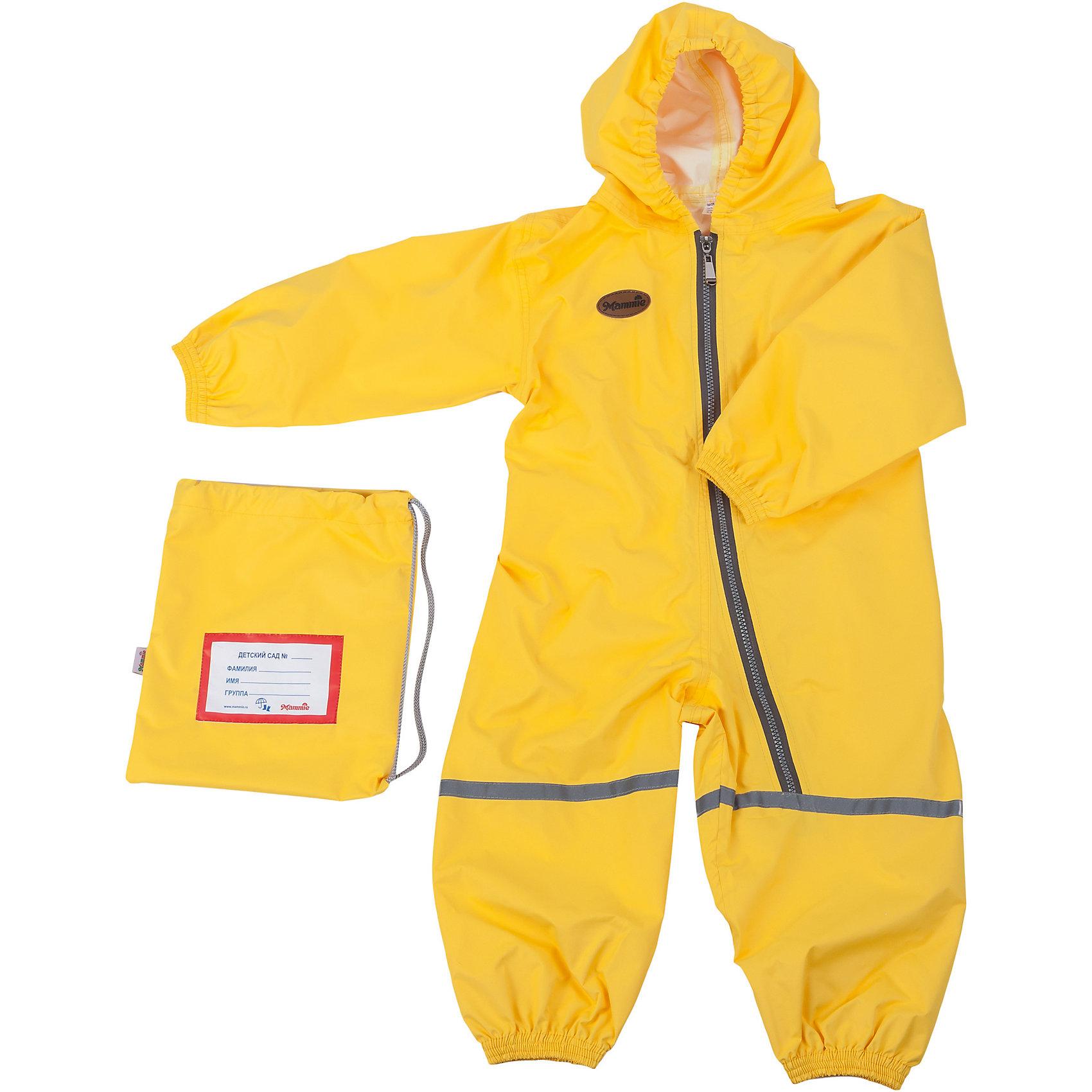 Комбинезон грязезащитный, р-р 3-4,мембрана, Mammie, желтыйВерхняя одежда<br>Комбинезон грязезащитный, р-р 3-4,мембрана, Mammie, желтый.<br><br>Характеристики:<br><br>• Для детей от 3 до 4 лет (рост 104-110 см.)<br>• Комплектация: комбинезон, мешочек с именной нашивкой<br>• Сезон: весна, лето, осень<br>• Температурный диапазон: от -5°С до +25°С<br>• Цвет: желтый<br>• Материал: мембрана - 100% полиэстер<br>• Водонепроницаемость: 3000 мм. <br>• Дышащие свойства: 3000 гр/кв.м/24ч<br>• Уход: машинная стирка при 30°С<br>• Размер упаковки: 20х30х5 см.<br>• Вес: 200 гр.<br><br>Детский грязезащитный, 100% непромокаемый дышащий комбинезон одевается поверх любой верхней одежды. Комбинезон утянут в поясе при помощи резинки. Глубокая молния позволяет ребенку самостоятельно надеть комбинезон. Ткань комбинезона не препятствует воздухообмену. Швы проклеены водозащитной лентой. Светоотражающие элементы повышают безопасность ребенка в темное время суток. Комбинезон отлично подходит для прогулок в детском саду в осенне-весенний период с грязью, лужами и слякотью. Легко стирается и моментально сохнет. Упакован в индивидуальный мешочек с именной нашивкой, который можно подвесить в шкафчик ребенка.<br><br>Комбинезон грязезащитный, р-р 3-4,мембрана, Mammie, желтый можно купить в нашем интернет-магазине.<br><br>Ширина мм: 200<br>Глубина мм: 300<br>Высота мм: 50<br>Вес г: 200<br>Возраст от месяцев: 36<br>Возраст до месяцев: 48<br>Пол: Унисекс<br>Возраст: Детский<br>SKU: 5613243