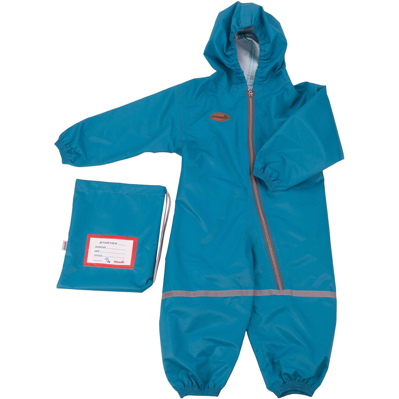 Комбинезон грязезащитный, р-р 1-2,мембрана, Mammie, морская волнаВерхняя одежда<br>Комбинезон грязезащитный, р-р 1-2,мембрана, Mammie, морская волна.<br><br>Характеристики:<br><br>• Для детей от 1 года до 2 лет (рост 92-98 см.)<br>• Комплектация: комбинезон, мешочек с именной нашивкой<br>• Сезон: весна, лето, осень<br>• Температурный диапазон: от -5°С до +25°С<br>• Цвет: морская волна<br>• Материал: мембрана - 100% полиэстер<br>• Водонепроницаемость: 3000 мм. <br>• Дышащие свойства: 3000 гр/кв.м/24ч<br>• Уход: машинная стирка при 30°С<br>• Размер упаковки: 20х30х5 см.<br>• Вес: 200 гр.<br><br>Детский грязезащитный, 100% непромокаемый дышащий комбинезон одевается поверх любой верхней одежды. Комбинезон утянут в поясе при помощи резинки. Глубокая молния позволяет ребенку самостоятельно надеть комбинезон. Ткань комбинезона не препятствует воздухообмену. Швы проклеены водозащитной лентой. Светоотражающие элементы повышают безопасность ребенка в темное время суток. Комбинезон отлично подходит для прогулок в детском саду в осенне-весенний период с грязью, лужами и слякотью. Легко стирается и моментально сохнет. Упакован в индивидуальный мешочек с именной нашивкой, который можно подвесить в шкафчик ребенка.<br><br>Комбинезон грязезащитный, р-р 1-2,мембрана, Mammie, морская волна можно купить в нашем интернет-магазине.<br><br>Ширина мм: 200<br>Глубина мм: 300<br>Высота мм: 50<br>Вес г: 200<br>Возраст от месяцев: 12<br>Возраст до месяцев: 24<br>Пол: Унисекс<br>Возраст: Детский<br>SKU: 5613244