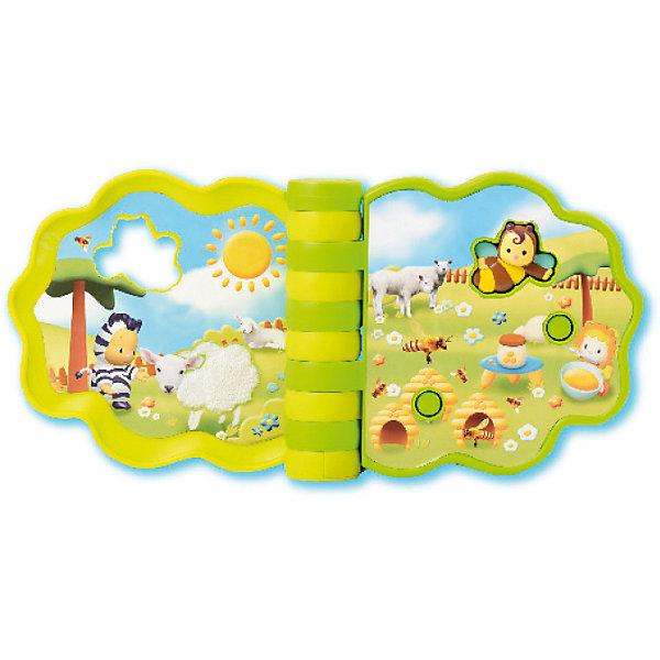 Музыкальная книжечка развивающая, 12 звуков, SmobyКнижки-игрушки<br>Характеристики товара:<br><br>• возраст от 10 месяцев;<br>• материал: пластик;<br>• размер книжки 18х15х4 см;<br>• книжка работает от 2 батареек ААА (демонстрационные в комплекте);<br>• размер упаковки 18х15х5 см;<br>• вес упаковки 610 гр.;<br>• страна производитель: Китай.<br><br>Музыкальная развивающая книжечка Smoby — красочная книжка для малышей, которая познакомит их с миром животных. Нажимая на кнопочку на страницах книги, малыш услышит звуки животных. В памяти 12 звуков. Книга способствует развитию мелкой моторики рук, тактильных ощущений, цветового восприятия, музыкального слуха.<br><br>Музыкальную развивающую книжечку Smoby можно приобрести в нашем интернет-магазине.<br><br>Ширина мм: 180<br>Глубина мм: 50<br>Высота мм: 150<br>Вес г: 610<br>Возраст от месяцев: 10<br>Возраст до месяцев: 36<br>Пол: Унисекс<br>Возраст: Детский<br>SKU: 5613486