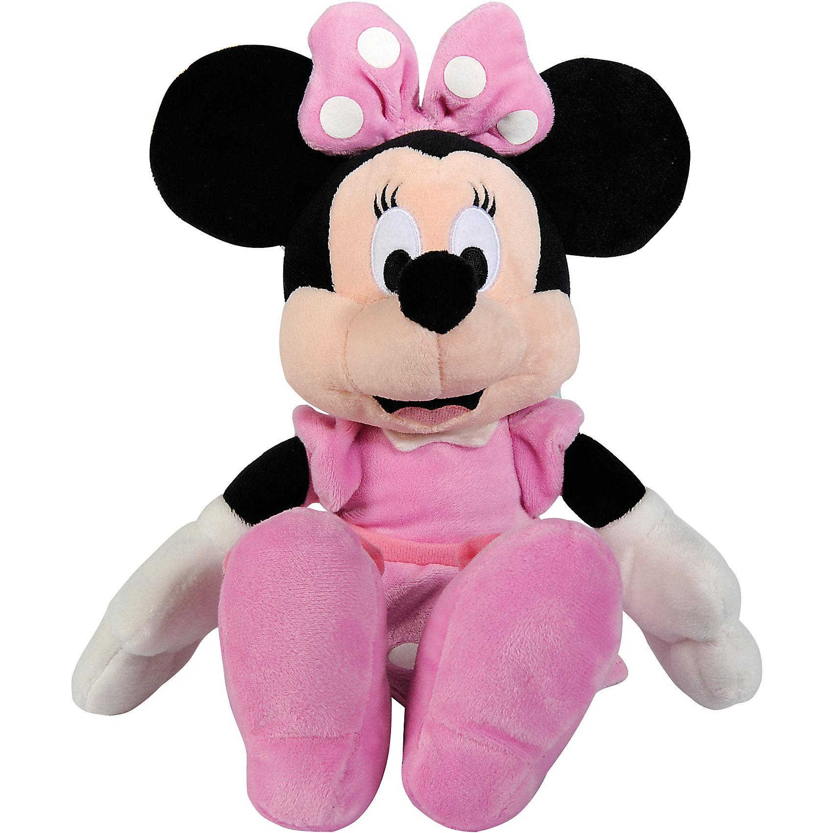 Мягкая игрушка Минни Маус, 25 см, NicotoyЛюбимые герои<br>Характеристики товара:<br><br>• возраст от 3 лет;<br>• материал: плюш;<br>• размер игрушки 25 см;<br>• размер упаковки 35х14х10 см;<br>• вес упаковки 160 гр.;<br>• страна производитель: Китай.<br><br>Мягкая игрушка «Минни Маус» 25 см Nicotoy — известный персонаж мультфильма добрая, заботливая романтичная Минни, подруга Микки Мауса. Минни одета в розовое платье и ботиночки, а на ее голове бантик в горошек. Игрушку можно взять с собой на прогулку, в гости или детский садик и придумывать разнообразные сюжеты для игры. Игрушка изготовлена из качественного безвредного материала.<br><br>Мягкую игрушку «Минни Маус» 25 см Nicotoy можно приобрести в нашем интернет-магазине.<br><br>Ширина мм: 350<br>Глубина мм: 140<br>Высота мм: 100<br>Вес г: 160<br>Возраст от месяцев: 36<br>Возраст до месяцев: 96<br>Пол: Женский<br>Возраст: Детский<br>SKU: 5613487