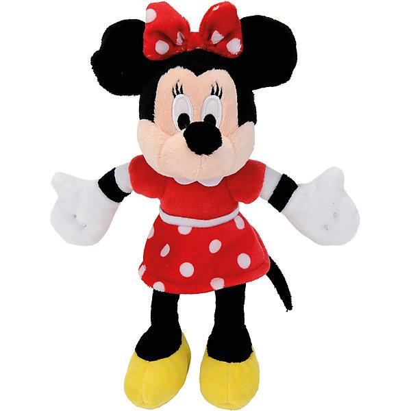 Мягкая игрушка Минни Маус, 20 см, NicotoyМягкие игрушки из мультфильмов<br>Характеристики товара:<br><br>• возраст от 3 лет;<br>• материал: плюш;<br>• размер игрушки 20 см;<br>• размер упаковки 23х15х10 см;<br>• вес упаковки 230 гр.;<br>• страна производитель: Китай.<br><br>Мягкая игрушка «Минни Маус» 20 см Nicotoy — известный персонаж мультфильма добрая, заботливая романтичная Минни, подруга Микки Мауса. Минни одета в красное платье в горошек, желтые туфельки, а на ее голове бантик в горошек. Игрушку можно взять с собой на прогулку, в гости или детский садик и придумывать разнообразные сюжеты для игры. Игрушка изготовлена из качественного безвредного материала.<br><br>Мягкую игрушку «Минни Маус» 20 см Nicotoy можно приобрести в нашем интернет-магазине.<br>Ширина мм: 230; Глубина мм: 150; Высота мм: 100; Вес г: 80; Возраст от месяцев: 36; Возраст до месяцев: 96; Пол: Женский; Возраст: Детский; SKU: 5613490;