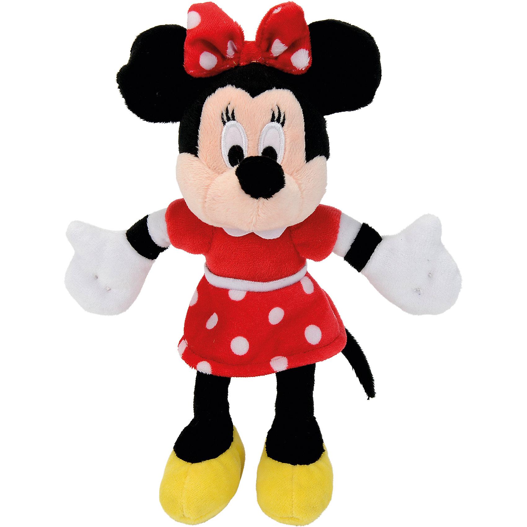 Мягкая игрушка Минни Маус, 20 см, NicotoyЛюбимые герои<br>Характеристики товара:<br><br>• возраст от 3 лет;<br>• материал: плюш;<br>• размер игрушки 20 см;<br>• размер упаковки 23х15х10 см;<br>• вес упаковки 230 гр.;<br>• страна производитель: Китай.<br><br>Мягкая игрушка «Минни Маус» 20 см Nicotoy — известный персонаж мультфильма добрая, заботливая романтичная Минни, подруга Микки Мауса. Минни одета в красное платье в горошек, желтые туфельки, а на ее голове бантик в горошек. Игрушку можно взять с собой на прогулку, в гости или детский садик и придумывать разнообразные сюжеты для игры. Игрушка изготовлена из качественного безвредного материала.<br><br>Мягкую игрушку «Минни Маус» 20 см Nicotoy можно приобрести в нашем интернет-магазине.<br><br>Ширина мм: 230<br>Глубина мм: 150<br>Высота мм: 100<br>Вес г: 80<br>Возраст от месяцев: 36<br>Возраст до месяцев: 96<br>Пол: Женский<br>Возраст: Детский<br>SKU: 5613490