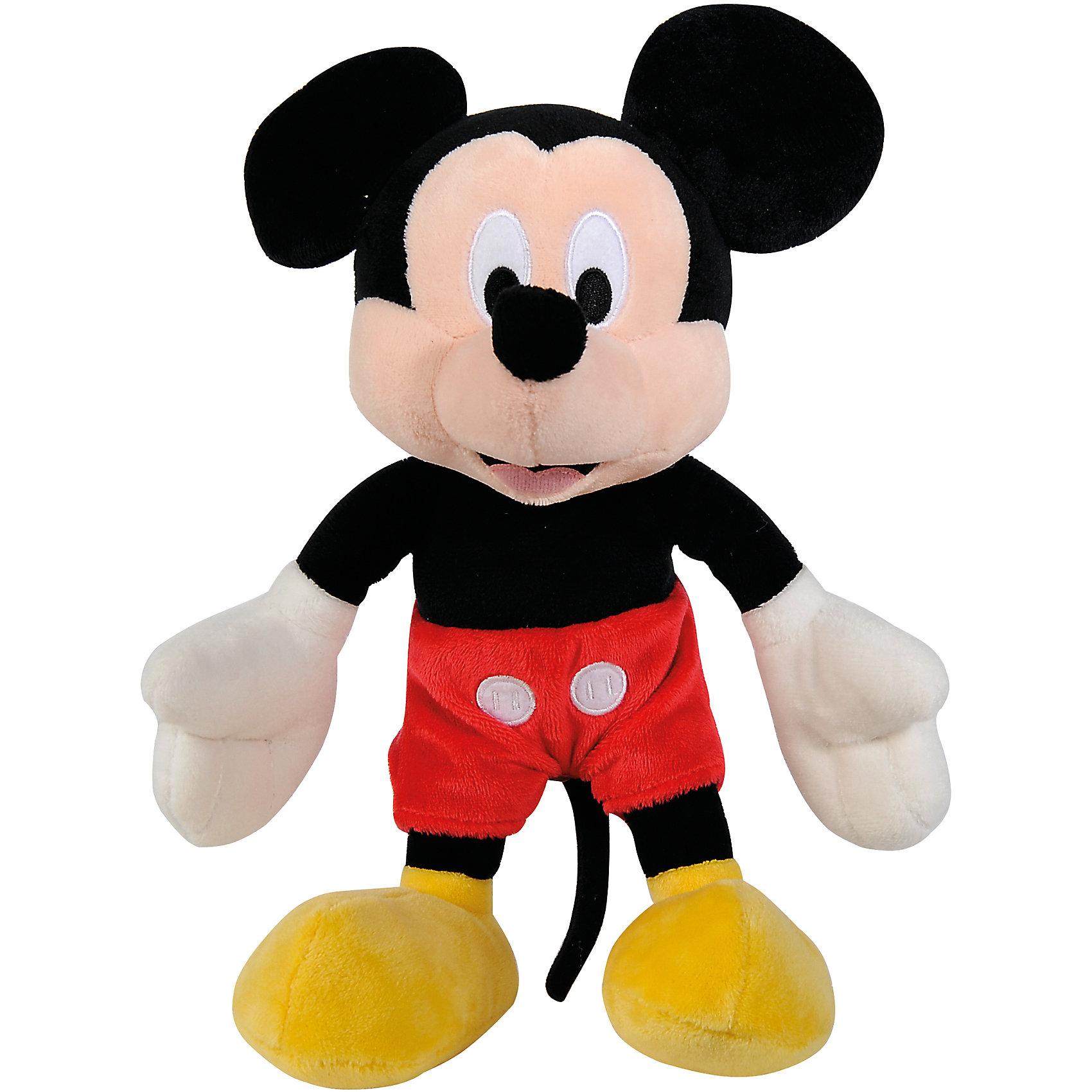 Мягкая игрушка Микки Маус, 20 см, NicotoyЛюбимые герои<br>Характеристики товара:<br><br>• возраст от 3 лет;<br>• материал: плюш;<br>• размер игрушки 20 см;<br>• размер упаковки 20х10х5 см;<br>• вес упаковки 70 гр.;<br>• страна производитель: Китай.<br><br>Мягкая игрушка «Микки Маус» 20 см Nicotoy — известный персонаж мультфильма любопытный и любознательный мышонок Микки, который любит приключения и всегда готов прийти к друзьям на помощь. Микки одет в красные шортики и большие ботиночки. Игрушку можно взять с собой на прогулку, в гости или детский садик и придумывать разнообразные сюжеты для игры. Игрушка изготовлена из качественного безвредного материала.<br><br>Мягкую игрушку «Микки Маус» 20 см Nicotoy можно приобрести в нашем интернет-магазине.<br><br>Ширина мм: 200<br>Глубина мм: 100<br>Высота мм: 50<br>Вес г: 70<br>Возраст от месяцев: 36<br>Возраст до месяцев: 96<br>Пол: Женский<br>Возраст: Детский<br>SKU: 5613491