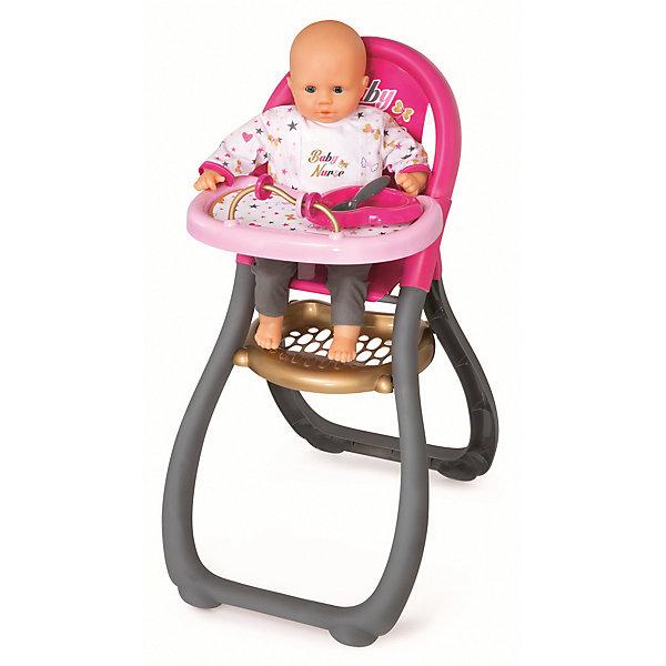 Стульчик для кормления пупса Ваby Nurse, SmobyМебель для кукол<br>Характеристики товара:<br><br>• возраст от 3 лет;<br>• материал: пластик;<br>• в комплекте: стульчик, ложка, тарелка, дуга с 3-мя кружочками;<br>• подходит для кукол высотой до 42 см;<br>• размер стульчика 69х46х33 см;<br>• размер упаковки 37,8х57,6х8 см;<br>• вес упаковки 1,18 кг;<br>• страна производитель: Китай.<br><br>Стульчик для кормления пупса Baby Nurse Smoby — удобный стульчик для кормления любимой куколки девочки. Стульчик оснащен сидением, подставкой для ножек, столиком и необходимыми аксессуарами для кормления. Игрушка способствует развитию у девочки чувства заботы и ответственности. Стульчик изготовлен из качественного безопасного пластика и не имеет острых углов.<br><br>Стульчик для кормления пупса Baby Nurse Smoby можно приобрести в нашем интернет-магазине.<br>Ширина мм: 378; Глубина мм: 80; Высота мм: 576; Вес г: 1180; Возраст от месяцев: 36; Возраст до месяцев: 96; Пол: Женский; Возраст: Детский; SKU: 5613509;