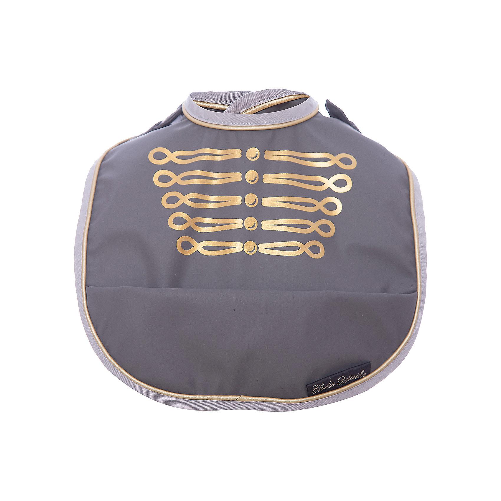 Нагрудник Golden Grey, Elodie DetailsНагрудники и салфетки<br>Нагрудник Golden Grey, Elodie Details (Элоди Дитейлс)<br><br>Характеристики:<br><br>• застежка-липучка<br>• удобный кармашек<br>• петелька для подвешивания<br>• легко моется<br>• материал: полиэстер, полиуретан<br>• размер упаковки: 35х13х30 см<br>• вес: 120 грамм<br><br>Стильный и практичный нагрудник от популярного бренда Elodie Details не позволит малышу испачкать свою одежду во время приёма пищи. Нижний кармашек задерживает крошки, кусочки пищи и жидкость. Модель застегивается с помощью регулируемой липучки. Нагрудник выполнен в чёрном и золотистом цветах, превращающие обед в настоящий праздник!<br><br>Нагрудник Golden Grey, Elodie Details (Элоди Дитейлс) вы можете купить в нашем интернет-магазине.<br><br>Ширина мм: 300<br>Глубина мм: 13<br>Высота мм: 350<br>Вес г: 120<br>Возраст от месяцев: 0<br>Возраст до месяцев: 36<br>Пол: Мужской<br>Возраст: Детский<br>SKU: 5613532