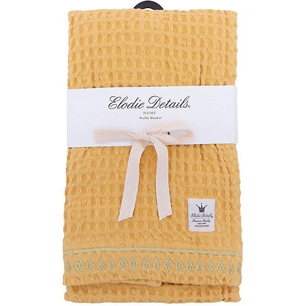 Плед Sweet Honey, , Elodie Details, вафельный узорПледы и покрывала<br>Плед Sweet Honey, вафельный узор, Elodie Details (Элоди Дитейлс)<br><br>Характеристики:<br><br>• дизайн в марокканском стиле<br>• пропускает воздух<br>• размер: 70х100 см<br>• материал: хлопок<br>• размер упаковки: 37х4х25 см<br>• вес: 430 грамм<br><br>Плед Sweet Honey от известного бренда Elodie Details согреет малыша во время прогулки или отдыха. Плед отлично подойдет для прогулки с коляской или отдыха на природе. Изделие выполнено из органического хлопка, который хорошо сохраняет тепло и не теряет свои свойства после стирки. Плед выполнен в желтом цвете и декорирован золотистой вышивкой по краю.<br><br>Плед  Sweet Honey, вафельный узор вы можете купить в нашем интернет-магазине.<br><br>Ширина мм: 250<br>Глубина мм: 40<br>Высота мм: 370<br>Вес г: 430<br>Возраст от месяцев: 0<br>Возраст до месяцев: 120<br>Пол: Унисекс<br>Возраст: Детский<br>SKU: 5613541