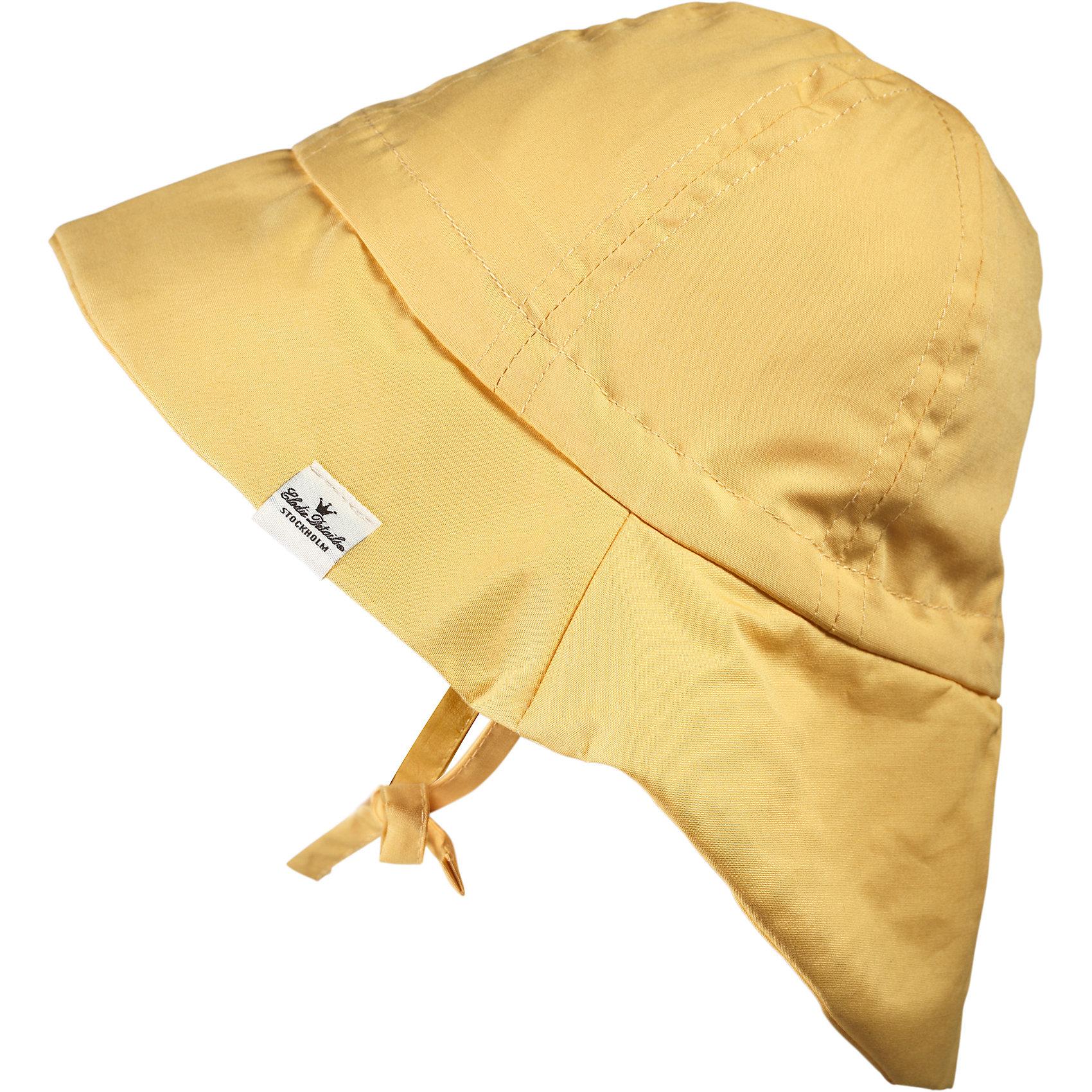 Панама Sweet Honey, 0-6 мес., Elodie DetailsШапочки<br>Панама Sweet Honey, 0-6 мес., Elodie Details (Элоди Дитейлс)<br><br>Характеристики:<br><br>• удобные завязки<br>• надежная защита головы<br>• приятна коже<br>• подходит для детей от 0 до 6 месяцев<br>• размер: 42 см<br>• материал: хлопок<br>• размер упаковки: 17,5х5х19 см<br><br>Панама Sweet Honey предназначена для малышей с рождения до 6 месяцев. Она надёжно защитит голову ребёнка и предотвратит перегрев головы в жаркий летний день. Панамка изготовлена из натурального хлопка, окрашенного в нежный жёлтый цвет. Фиксируется при помощи надёжных завязок. В такой стильной панаме гулять ещё приятнее!<br><br>Панаму Sweet Honey, 0-6 мес., Elodie Details (Элоди Дитейлс) вы можете купить в нашем интернет-магазине.<br><br>Ширина мм: 190<br>Глубина мм: 50<br>Высота мм: 175<br>Вес г: 350<br>Возраст от месяцев: 0<br>Возраст до месяцев: 6<br>Пол: Унисекс<br>Возраст: Детский<br>SKU: 5613558