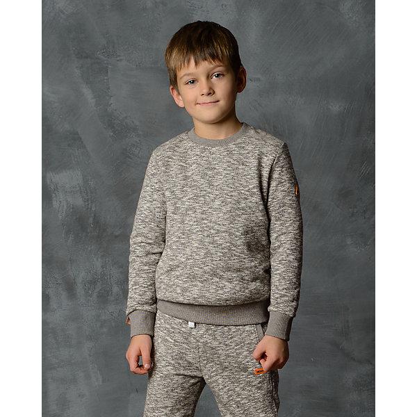 Толстовка для мальчика Modniy JukТолстовки, свитера, кардиганы<br>Характеристики товара:<br><br>• цвет: бежевый<br>• состав: 70% хлопок, 30% полиэстер<br>• длинные рукава<br>• мягкий материал<br>• низ - мягкая резинка<br>• манжеты<br>• логотип<br><br>• страна бренда: Российская Федерация<br>• страна производства: Российская Федерация<br><br>Модели одежды из новой коллекции от бренда Модный жук - это стильные и удобные вещи, созданные специально для детей. Они отличаются продуманным дизайном, качественными материалами и комфортной посадкой. Дети носят их с удовольствием! Джемпер прямого силуэта - хит сезона, отличный вариант базовой вещи для разной погоды. Он отлично сочетается с джинсами и брюками, хорошо сидит по фигуре.<br>Одежда и аксессуары от российского бренда Модный жук - это способ пополнить гардероб ребенка модными изделиями по доступной цене. Для их производства используются только безопасные, проверенные материалы и фурнитура. Новая коллекция поддерживает хорошие традиции бренда! <br><br>Джемпер для мальчика от популярного бренда Модный жук можно купить в нашем интернет-магазине.<br>Ширина мм: 190; Глубина мм: 74; Высота мм: 229; Вес г: 236; Цвет: бежевый; Возраст от месяцев: 12; Возраст до месяцев: 18; Пол: Мужской; Возраст: Детский; Размер: 92,86,98; SKU: 5613721;