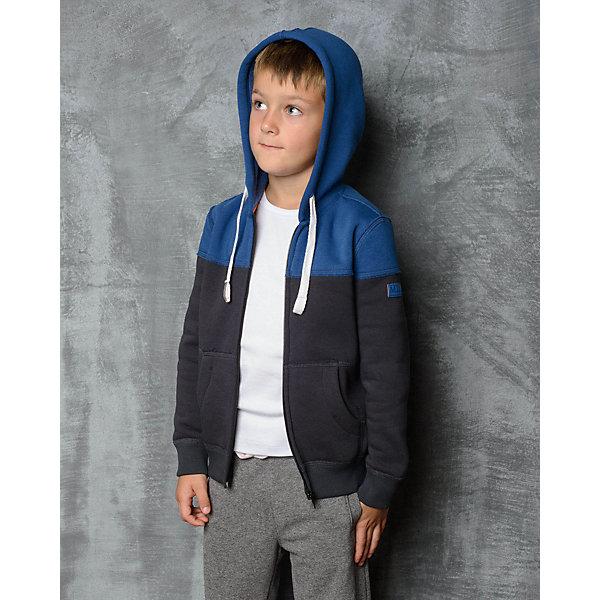 Толстовка для мальчика Modniy JukСпортивная одежда<br>Характеристики товара:<br><br>• цвет: синий<br>• состав: 70% хлопок, 30% полиэстер<br>• длинные рукава<br>• мягкий материал<br>• карманы<br>• капюшон<br>• молния<br>• манжеты<br>• логотип<br><br>• страна бренда: Российская Федерация<br>• страна производства: Российская Федерация<br><br>Модели одежды из новой коллекции от бренда Модный жук - это стильные и удобные вещи, созданные специально для детей. Они отличаются продуманным дизайном, качественными материалами и комфортной посадкой. Дети носят их с удовольствием! Толстовка с капюшоном - хит сезона, отличный вариант базовой вещи для разной погоды. Она отлично сочетается с джинсами и брюками, хорошо сидит по фигуре.<br>Одежда и аксессуары от российского бренда Модный жук - это способ пополнить гардероб ребенка модными изделиями по доступной цене. Для их производства используются только безопасные, проверенные материалы и фурнитура. Новая коллекция поддерживает хорошие традиции бренда! <br><br>Толстовку для мальчика от популярного бренда Модный жук можно купить в нашем интернет-магазине.<br><br>Ширина мм: 190<br>Глубина мм: 74<br>Высота мм: 229<br>Вес г: 236<br>Цвет: синий<br>Возраст от месяцев: 48<br>Возраст до месяцев: 60<br>Пол: Мужской<br>Возраст: Детский<br>Размер: 104/110,98/104,92/98,86/92<br>SKU: 5613774