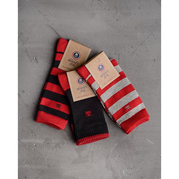 Купить Носки (3 пары) для мальчика Modniy Juk, Россия, красный, 20, 26, 23, Мужской