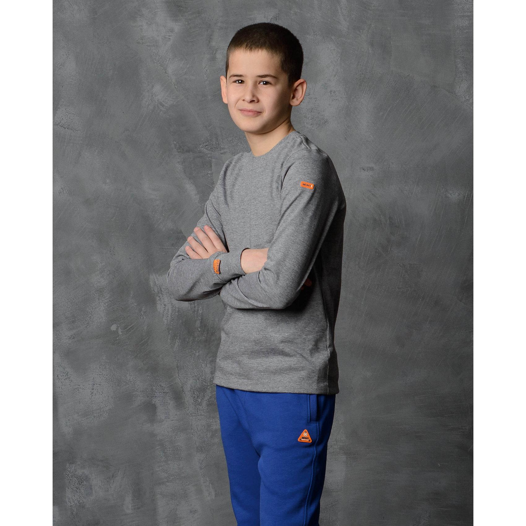 Футболка с длинным рукавом для мальчика Modniy JukФутболки с длинным рукавом<br>Характеристики товара:<br><br>• цвет: серый<br>• состав: 100% хлопок<br>• длинные рукава<br>• мягкий материал<br>• круглый вырез горловины<br>• манжеты<br>• логотип<br><br>• страна бренда: Российская Федерация<br>• страна производства: Российская Федерация<br><br>Модели одежды из новой коллекции от бренда Модный жук - это стильные и удобные вещи, созданные специально для детей. Они отличаются продуманным дизайном, качественными материалами и комфортной посадкой. Дети носят их с удовольствием! Футболка с длинным рукавом - хит сезона, отличный вариант базовой вещи для разной погоды. Она отлично сочетается с джинсами и брюками, хорошо сидит по фигуре.<br>Одежда и аксессуары от российского бренда Модный жук - это способ пополнить гардероб ребенка модными изделиями по доступной цене. Для их производства используются только безопасные, проверенные материалы и фурнитура. Новая коллекция поддерживает хорошие традиции бренда! <br><br>Футболку с длинным рукавом для мальчика от популярного бренда Модный жук можно купить в нашем интернет-магазине.<br><br>Ширина мм: 230<br>Глубина мм: 40<br>Высота мм: 220<br>Вес г: 250<br>Цвет: серый<br>Возраст от месяцев: 144<br>Возраст до месяцев: 156<br>Пол: Мужской<br>Возраст: Детский<br>Размер: 152/158,98/104,104/110,110/116,116/122,122/128,128/134,134/140,140/146,146/152<br>SKU: 5614239