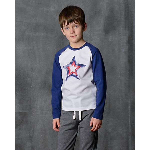 Футболка с длинным рукавом для мальчика Modniy JukФутболки с длинным рукавом<br>Характеристики товара:<br><br>• цвет: синий<br>• состав: 100% хлопок<br>• длинные рукава<br>• мягкий материал<br>• круглый вырез горловины<br>• манжеты<br>• принт<br><br>• страна бренда: Российская Федерация<br>• страна производства: Российская Федерация<br><br>Модели одежды из новой коллекции от бренда Модный жук - это стильные и удобные вещи, созданные специально для детей. Они отличаются продуманным дизайном, качественными материалами и комфортной посадкой. Дети носят их с удовольствием! Принтованная футболка с длинным рукавом - хит сезона, отличный вариант базовой вещи для разной погоды. Она отлично сочетается с джинсами и брюками, хорошо сидит по фигуре.<br>Одежда и аксессуары от российского бренда Модный жук - это способ пополнить гардероб ребенка модными изделиями по доступной цене. Для их производства используются только безопасные, проверенные материалы и фурнитура. Новая коллекция поддерживает хорошие традиции бренда! <br><br>Футболку с длинным рукавом для мальчика от популярного бренда Модный жук можно купить в нашем интернет-магазине.<br>Ширина мм: 230; Глубина мм: 40; Высота мм: 220; Вес г: 250; Цвет: белый; Возраст от месяцев: 156; Возраст до месяцев: 168; Пол: Мужской; Возраст: Детский; Размер: 158/164,146/152,140/146,134/140,128/134,122/128,116/122,110/116,104/110,152/158,164/170; SKU: 5614250;