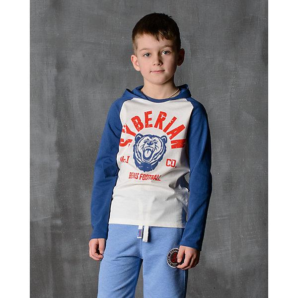 Футболка с длинным рукавом для мальчика Modniy JukФутболки с длинным рукавом<br>Характеристики товара:<br><br>• цвет: синий<br>• состав: 100% хлопок<br>• длинные рукава<br>• мягкий материал<br>• круглый вырез горловины<br>• манжеты<br>• капюшон<br><br>• страна бренда: Российская Федерация<br>• страна производства: Российская Федерация<br><br>Модели одежды из новой коллекции от бренда Модный жук - это стильные и удобные вещи, созданные специально для детей. Они отличаются продуманным дизайном, качественными материалами и комфортной посадкой. Дети носят их с удовольствием! Футболка с длинным рукавом - хит сезона, отличный вариант базовой вещи для разной погоды. Она отлично сочетается с джинсами и брюками, хорошо сидит по фигуре.<br>Одежда и аксессуары от российского бренда Модный жук - это способ пополнить гардероб ребенка модными изделиями по доступной цене. Для их производства используются только безопасные, проверенные материалы и фурнитура. Новая коллекция поддерживает хорошие традиции бренда! <br><br>Футболку с длинным рукавом для мальчика от популярного бренда Модный жук можно купить в нашем интернет-магазине.<br><br>Ширина мм: 230<br>Глубина мм: 40<br>Высота мм: 220<br>Вес г: 250<br>Цвет: синий<br>Возраст от месяцев: 96<br>Возраст до месяцев: 108<br>Пол: Мужской<br>Возраст: Детский<br>Размер: 128/134,122/128,116/122,110/116,164/170,158/164,152/158,146/152,140/146,134/140<br>SKU: 5614274