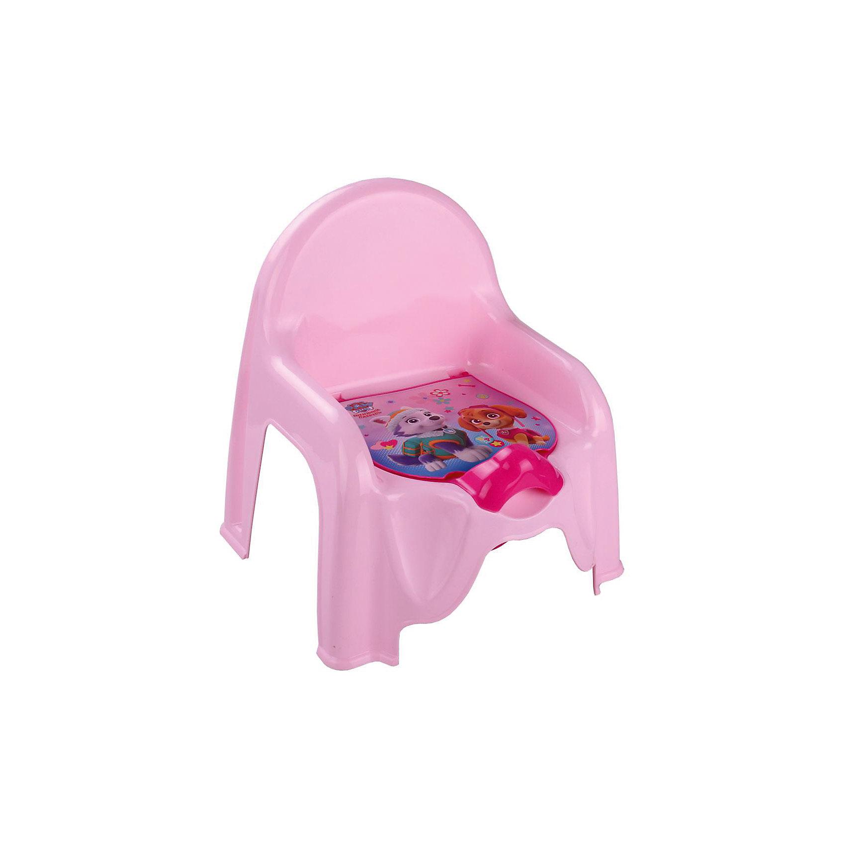 Горшок-стульчик  Щенячий патруль, Alternativa, розовыйГоршки, сиденья для унитаза, стульчики-подставки<br>Горшок-стульчик  Щенячий патруль, Alternativa.<br><br>Характеристики:<br><br>• Для детей в возрасте: от 12 месяцев до 3 лет<br>• Размер: 45,5 х11х22 см.<br>• Материал: пластик<br>• Цвет: розовый<br><br>Устойчивый и удобный горшок-стульчик сделает процесс приучения ребенка к горшку быстрым и комфортным! Горшок-стульчик - это маленький детский стул с отверстием, в которое вставляется горшок. Горшок имеет защиту от брызг и крышку украшенную изображением героинь мультсериала Щенячий патруль. Горшок вынимается и легко моется после использования. Горшок-стульчик выше обычного горшка, поэтому на него проще садиться и вставать. Горшок-стульчик имеет прямую спинку и удобные подлокотники, которые создают дополнительный комфорт малышу. Изготовлен из прочного пластика.<br><br>Горшок-стульчик Щенячий патруль, Alternativa можно купить в нашем интернет-магазине<br><br>Ширина мм: 290<br>Глубина мм: 255<br>Высота мм: 345<br>Вес г: 440<br>Возраст от месяцев: 12<br>Возраст до месяцев: 36<br>Пол: Женский<br>Возраст: Детский<br>SKU: 5614404