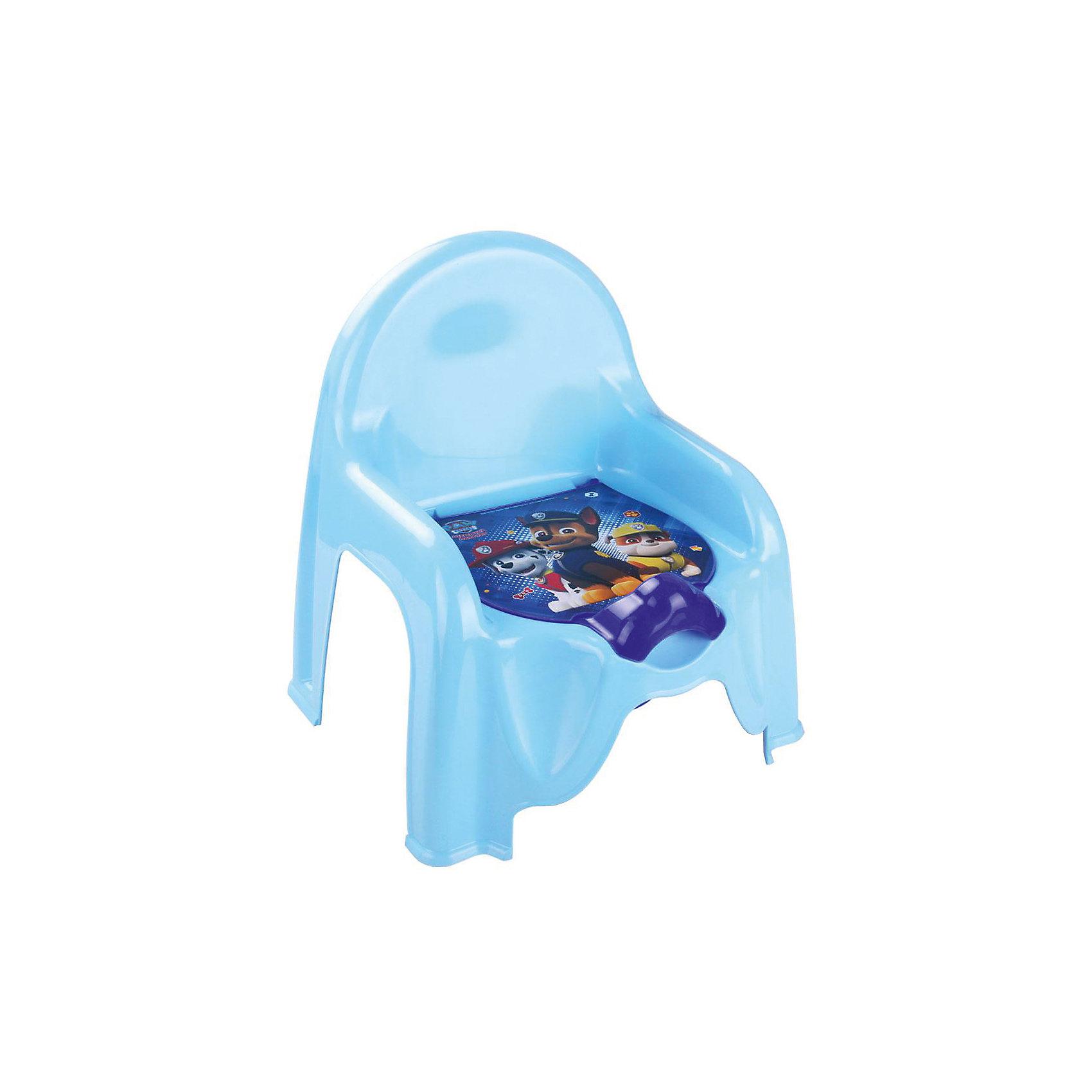 Горшок-стульчик Щенячий патруль, Alternativa, голубойГоршки, сиденья для унитаза, стульчики-подставки<br>Горшок-стульчик  Щенячий патруль, Alternativa.<br><br>Характеристики:<br><br>• Для детей в возрасте: от 12 месяцев до 3 лет<br>• Размер: 45,5 х11х22 см.<br>• Материал: пластик<br>• Цвет: голубой<br><br>Устойчивый и удобный горшок-стульчик сделает процесс приучения ребенка к горшку быстрым и комфортным! Горшок-стульчик - это маленький детский стул с отверстием, в которое вставляется горшок. Горшок имеет защиту от брызг и крышку украшенную изображением героев мультсериала Щенячий патруль. Горшок вынимается и легко моется после использования. Горшок-стульчик выше обычного горшка, поэтому на него проще садиться и вставать. Горшок-стульчик имеет прямую спинку и удобные подлокотники, которые создают дополнительный комфорт малышу. Изготовлен из прочного пластика.<br><br>Горшок-стульчик Щенячий патруль, Alternativa можно купить в нашем интернет-магазине.<br><br>Ширина мм: 290<br>Глубина мм: 255<br>Высота мм: 345<br>Вес г: 440<br>Возраст от месяцев: 12<br>Возраст до месяцев: 36<br>Пол: Мужской<br>Возраст: Детский<br>SKU: 5614405