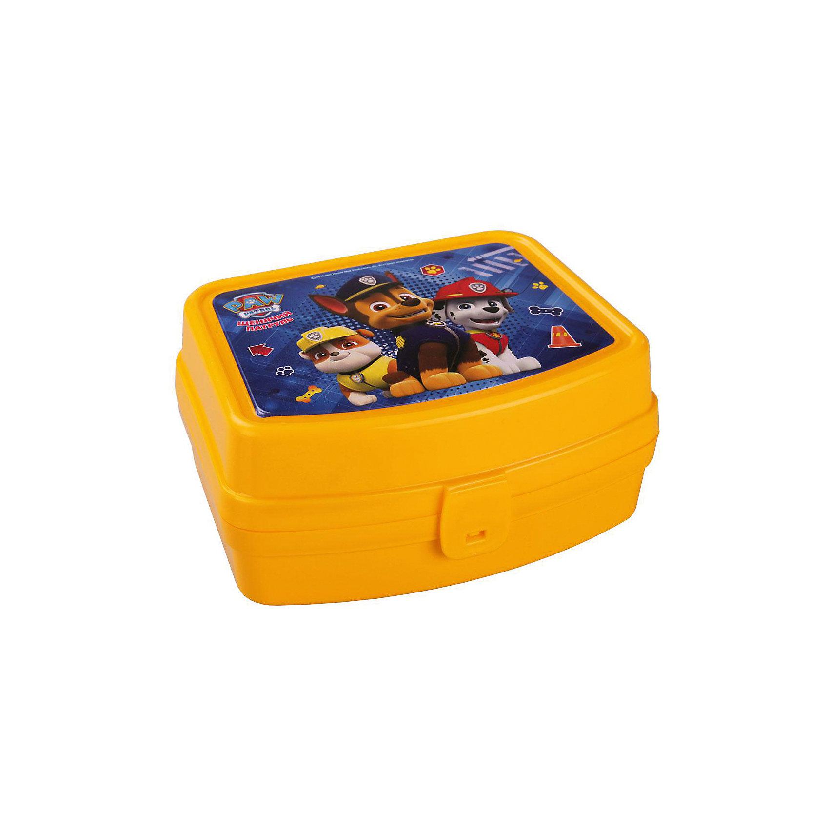 Контейнер Щенячий патруль прямоуголный, AlternativaДетская посуда<br>Контейнер Щенячий патруль прямоуголный, Alternativa.<br><br>Характеристики:<br><br>• Для детей в возрасте: от 3 до 7 лет<br>• Материал: пластик<br>• Цвет: желтый<br>• Размер: 16,5х13,5х8 см.<br>• Вес: 140 гр.<br><br>Яркий прямоугольный контейнер с изображением щенков-спасателей из мультсериала Щенячий патруль порадует Вашего ребенка. Он отлично подойдет для хранения самых ценных вещей вашего малыша. Контейнер изготовлен из безопасного пластика, плотно закрывается крышкой с удобным замком. Контейнер компактен, не займет много места. Соответствует требованиям безопасности и стандартам качества продукции.<br><br>Контейнер Щенячий патруль прямоуголный, Alternativa можно купить в нашем интернет-магазине.<br><br>Ширина мм: 165<br>Глубина мм: 135<br>Высота мм: 80<br>Вес г: 140<br>Возраст от месяцев: 36<br>Возраст до месяцев: 84<br>Пол: Мужской<br>Возраст: Детский<br>SKU: 5614412