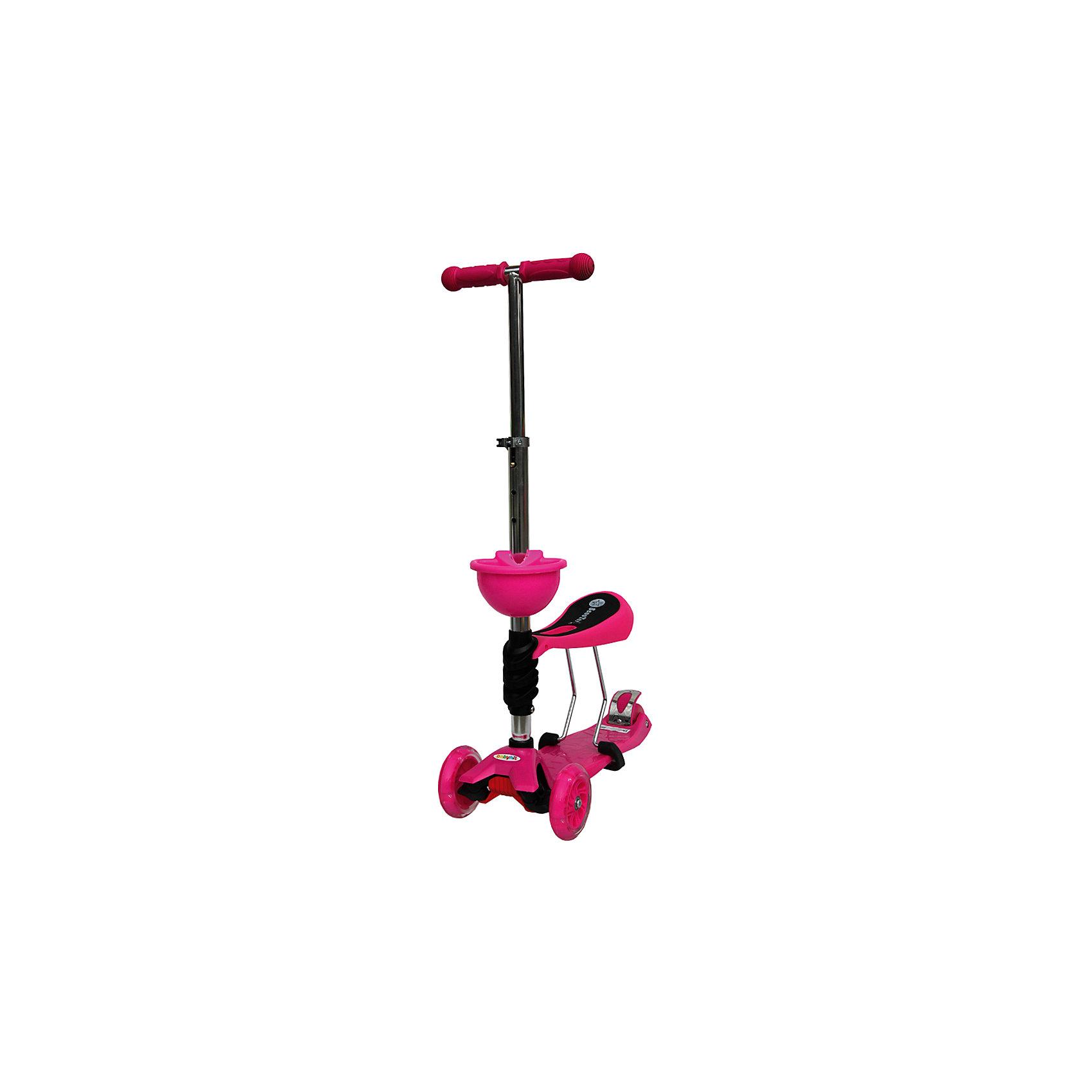 Самокат, розовый,  ScooterOK Tolocar