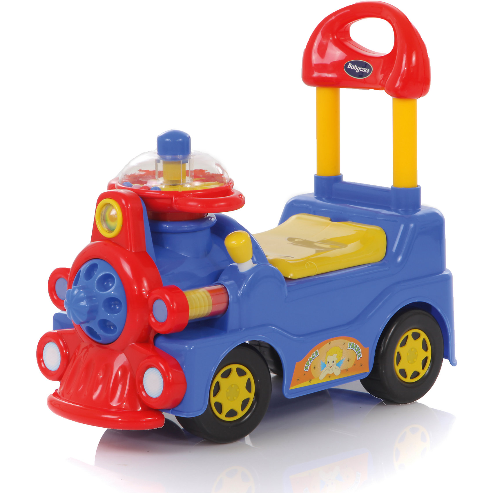 Каталка Train, синяя, Baby CareМашинки-каталки<br>Характеристики товара:<br><br>• возраст от 1 года;<br>• материал: пластик;<br>• размер упаковки 57х27х51 см;<br>• вес упаковки 3 кг;<br>• страна производитель: Китай.<br><br>Каталка Train Baby Care синяя выполнена в виде паровозика с рулем, колесиками и удобным сидением со спинкой. Когда малыш только учится ходить, он может, держась за спинку сидения, делать свои первые шаги и будет учиться держать равновесие самостоятельно. Детишки постарше используют каталку как необычное транспортное средство и ездят, отталкиваясь ножками от земли. Так малыш учится координировать движения, укрепляет ноги. Руль каталки оснащен рычажками, нажимая на которые издаются звуки. Каталка выполнена из прочного пластика, безопасного для детей.<br><br>Каталку Train Baby Care синюю можно приобрести в нашем интернет-магазине.<br><br>Ширина мм: 570<br>Глубина мм: 270<br>Высота мм: 510<br>Вес г: 3000<br>Возраст от месяцев: 12<br>Возраст до месяцев: 48<br>Пол: Унисекс<br>Возраст: Детский<br>SKU: 5614432