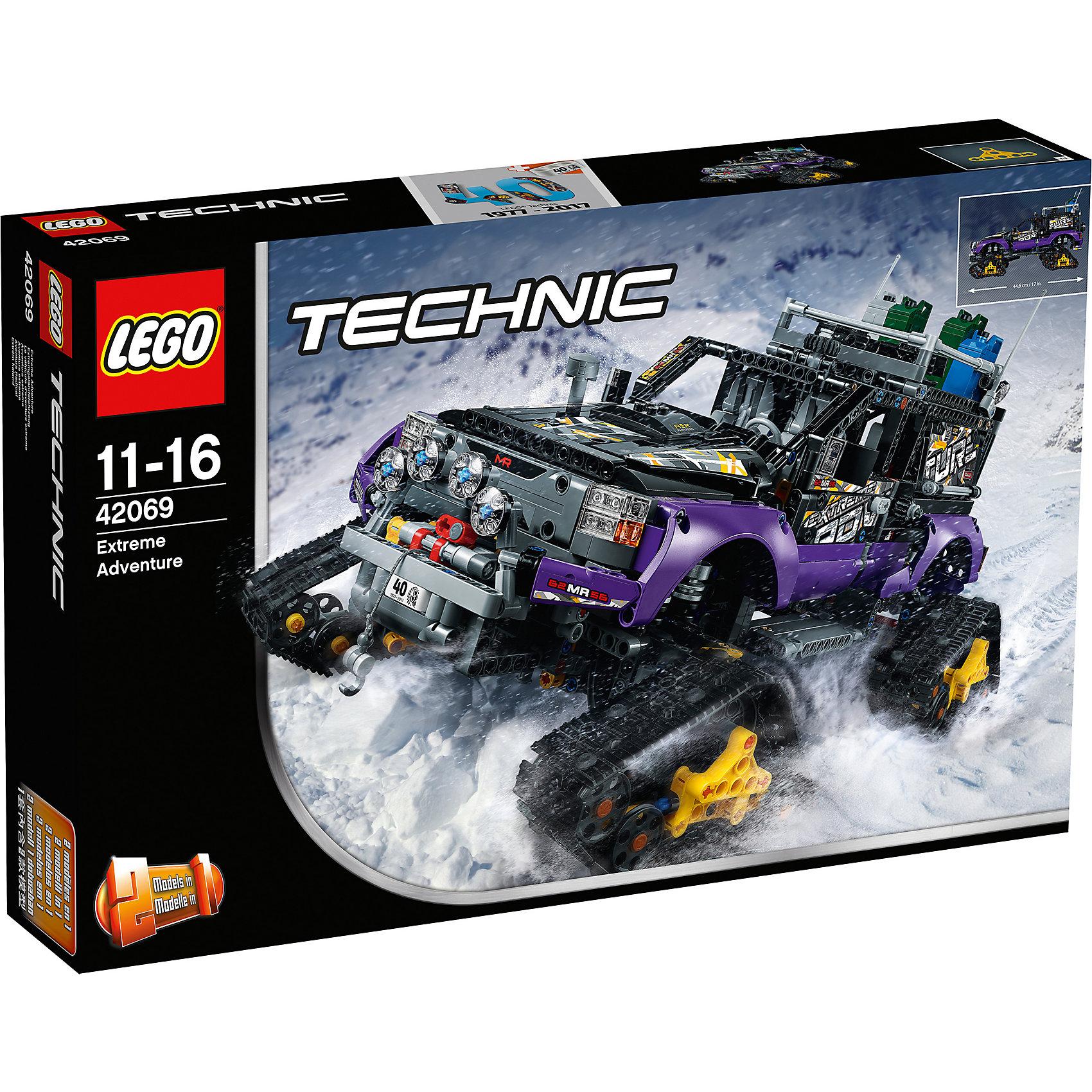 LEGO Technic 42069: Экстремальные приключенияПластмассовые конструкторы<br><br><br>Ширина мм: 584<br>Глубина мм: 375<br>Высота мм: 114<br>Вес г: 2992<br>Возраст от месяцев: 132<br>Возраст до месяцев: 192<br>Пол: Мужской<br>Возраст: Детский<br>SKU: 5619964