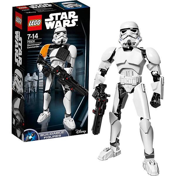 Конструктор Lego Star Wars 75531: Командир штурмовиковКонструкторы Лего<br>Характеристики товара:<br><br>• возраст: от 7 лет;<br>• материал: пластик;<br>• в комплекте: 100 деталей;<br>• размер упаковки: 26,2х14,1х6,1 см;<br>• вес упаковки: 260 гр.;<br>• страна производитель: Китай.<br><br>Конструктор Lego Star Wars «Командир штурмовиков» создан по мотивам известной космической саги «Звездные войны». Из элементов конструктора предстоит собрать фигурку штурмовика, одетого в знаменитый костюм и большой шлем. В руках он держит винтовку. У собранной фигурки имеются подвижные детали: двигается голова, руки и ноги сгибаются. <br><br>Все детали выполнены из качественных безопасных материалов. В процессе сборки конструктора у детей развиваются мелкая моторика рук, усидчивость, логическое мышление.<br><br>Конструктор Lego Star Wars «Командир штурмовиков» можно приобрести в нашем интернет-магазине.<br><br>Ширина мм: 263<br>Глубина мм: 144<br>Высота мм: 66<br>Вес г: 261<br>Возраст от месяцев: 84<br>Возраст до месяцев: 2147483647<br>Пол: Мужской<br>Возраст: Детский<br>SKU: 5619970